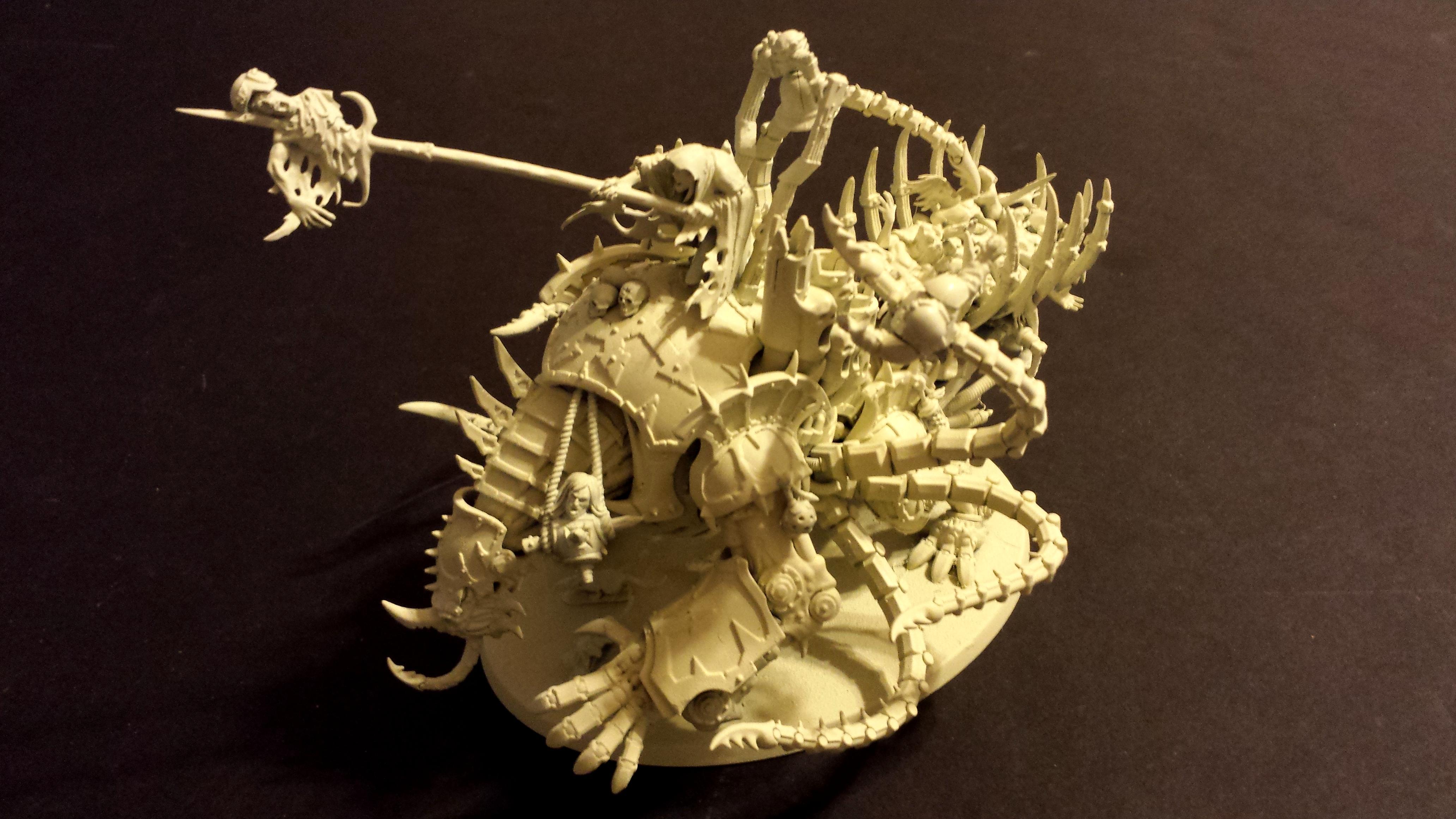 Nurgle Mauler Fiend, Mauler fiend with corpse cart