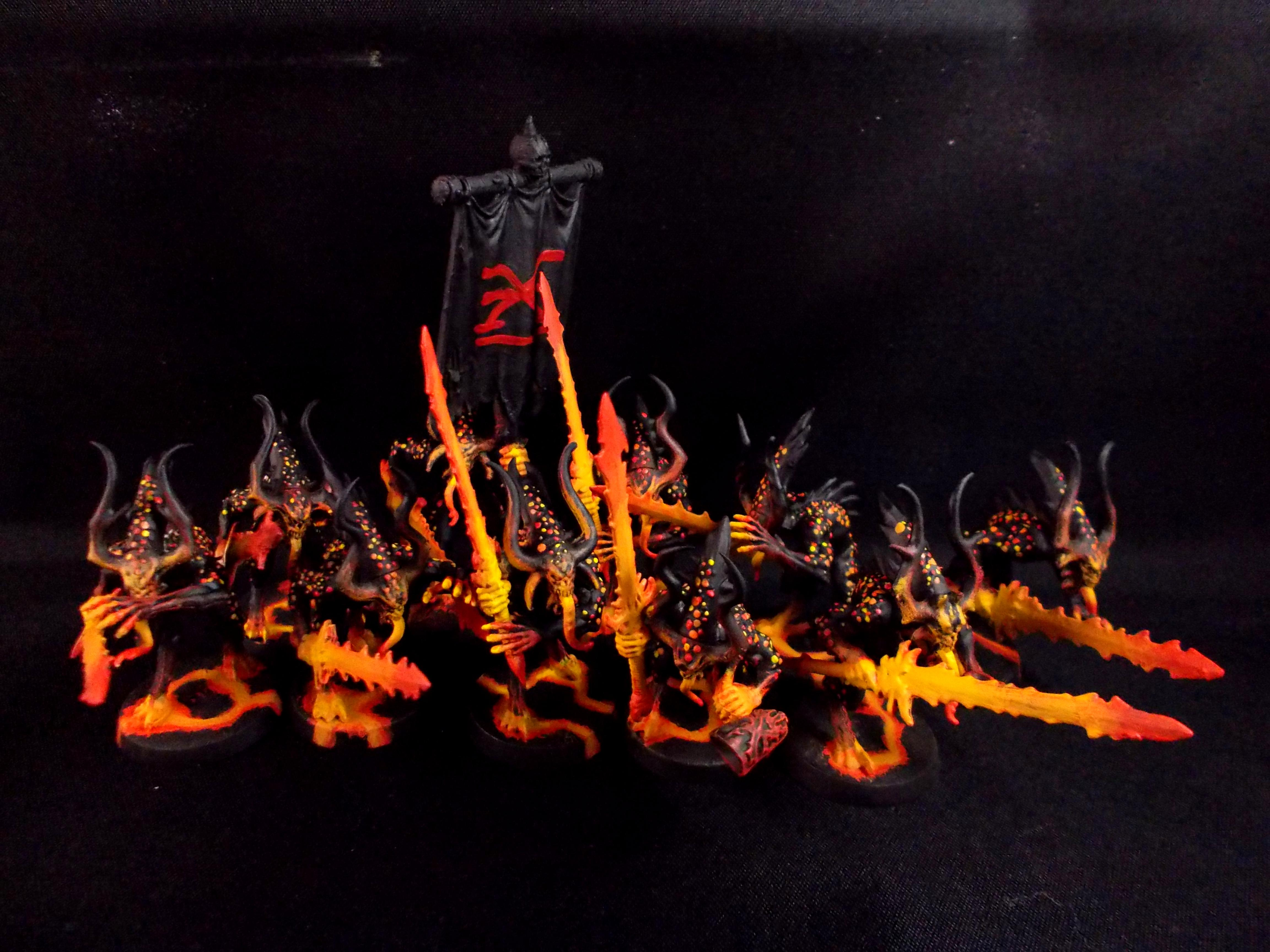 Black, Bloodletters, Garglechum, Orange, Warhammer 40,000