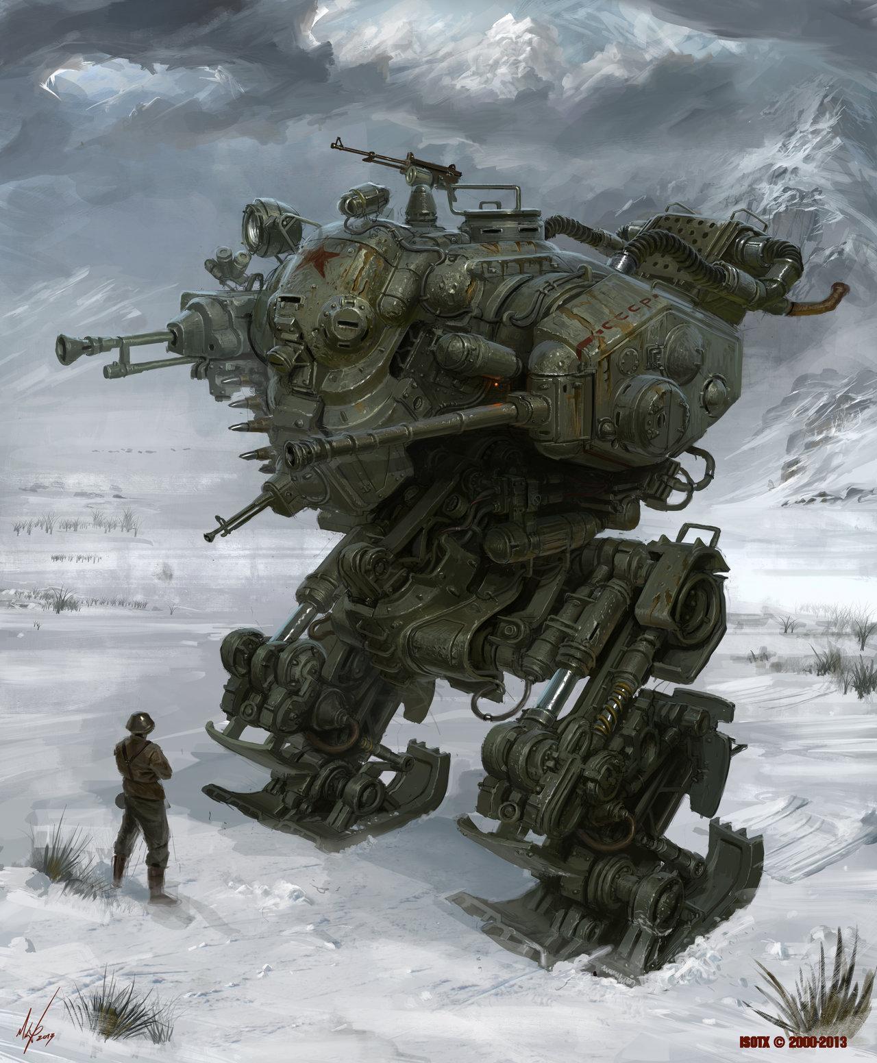 Diesel Punk, Mecha, Soviet, Steam Punk, Walker, Wierd War Ii, World War 2, Wwi