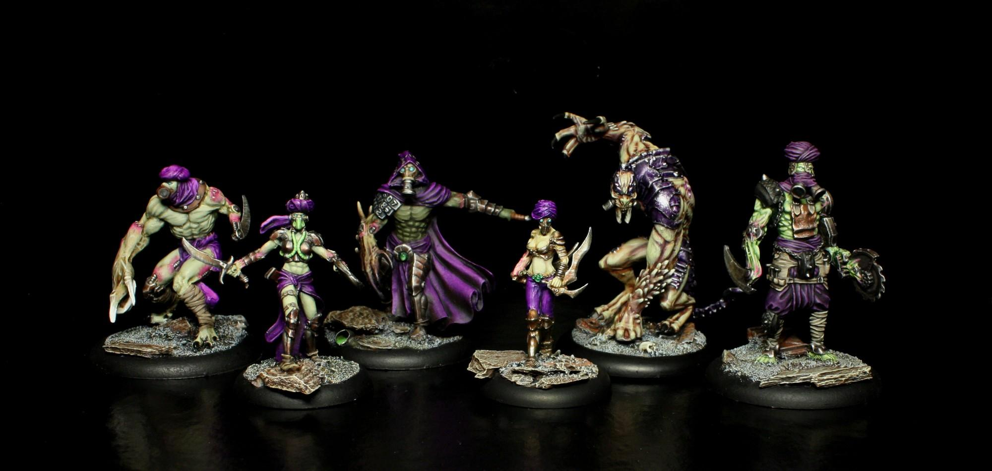 Aïcha, Alghul, Almeh, Askari, Bionics, Defender, Eden, Escape, Green, Monster, Mutant, Pink, Purple, Warriors