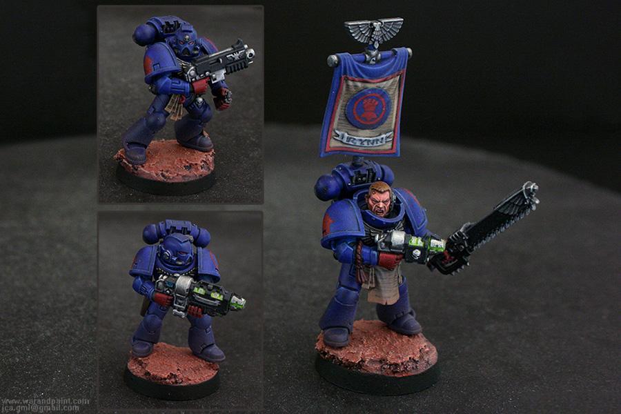 Crimson Fists, Grav-gun, Jca, Sergeant, Space Marines