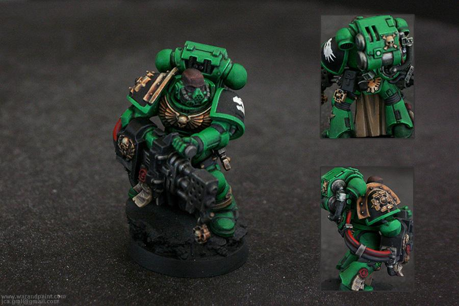 Heavy Flamer, Jca, Respirator, Salamander, Space Marines