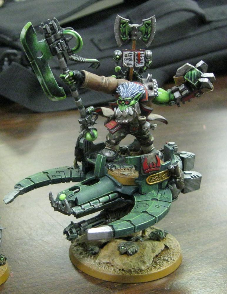 Blood Axe, Custom, Looted, Necron Abuse, Necrons, Orks, Warbike, Warboss