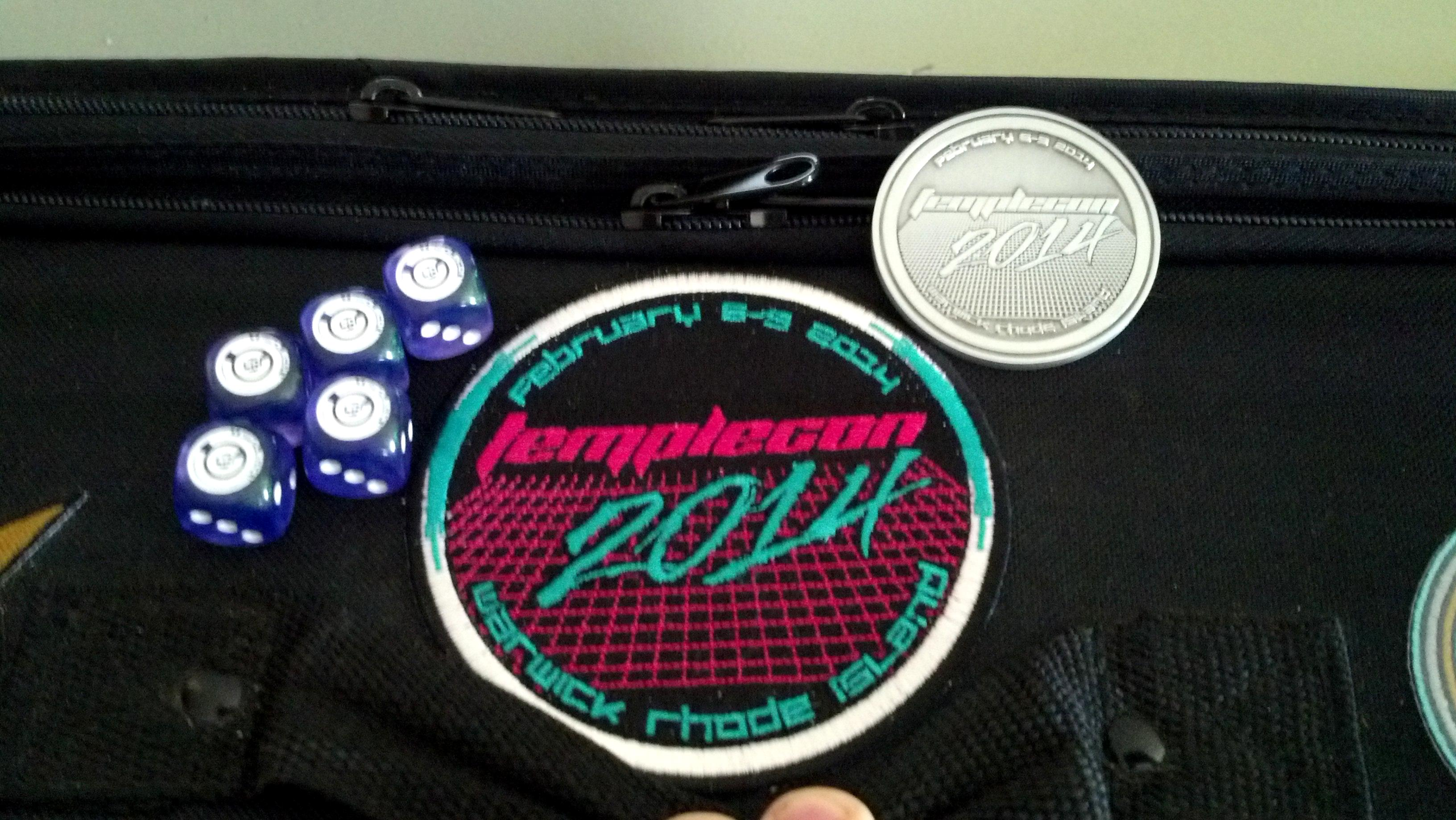 Coin, Dice, Patch, Temple, Templecon