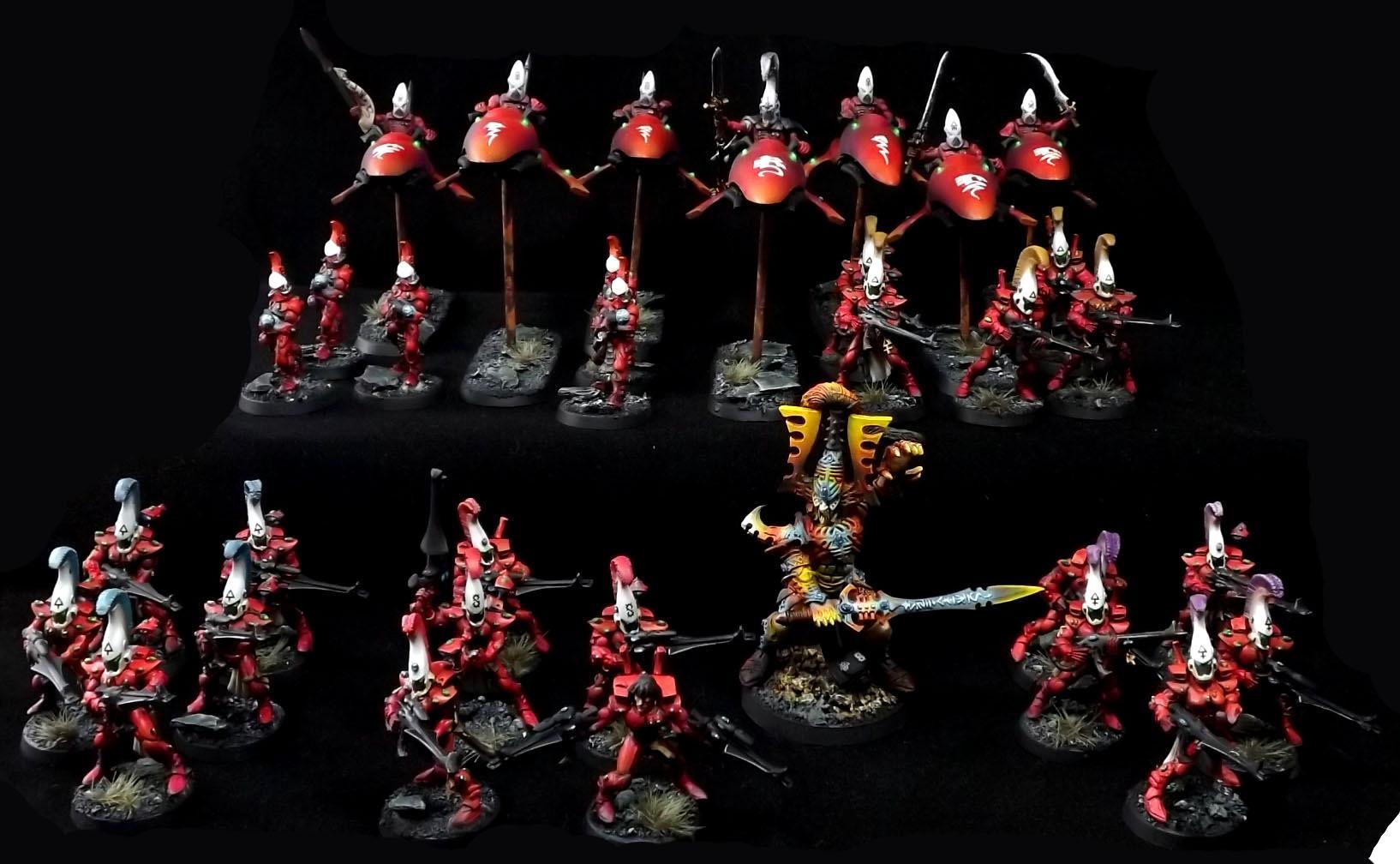 Army, Avatar, Eldars, Flying, Khain, Red, Saim Ham, Urban, Warhammer 40,000, Warhammer Fantasy