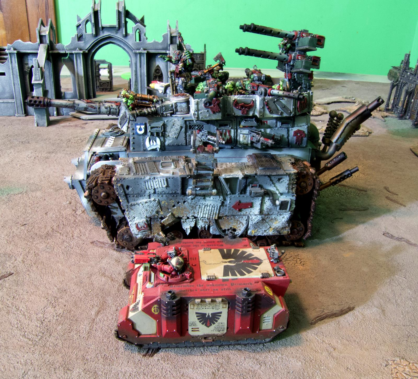 Battle Fortress, Orks, Ouze, Scratch Build, Super-heavy, Warhammer 40,000