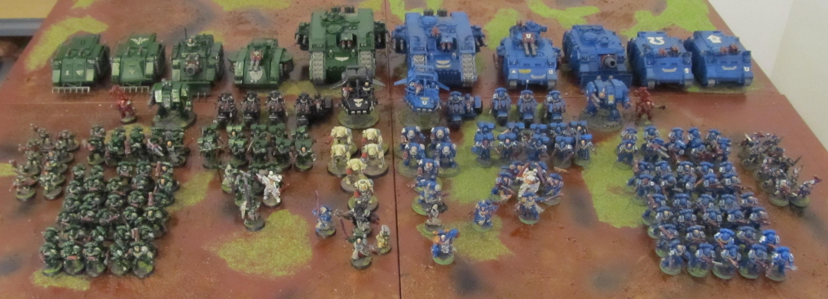 full armies front
