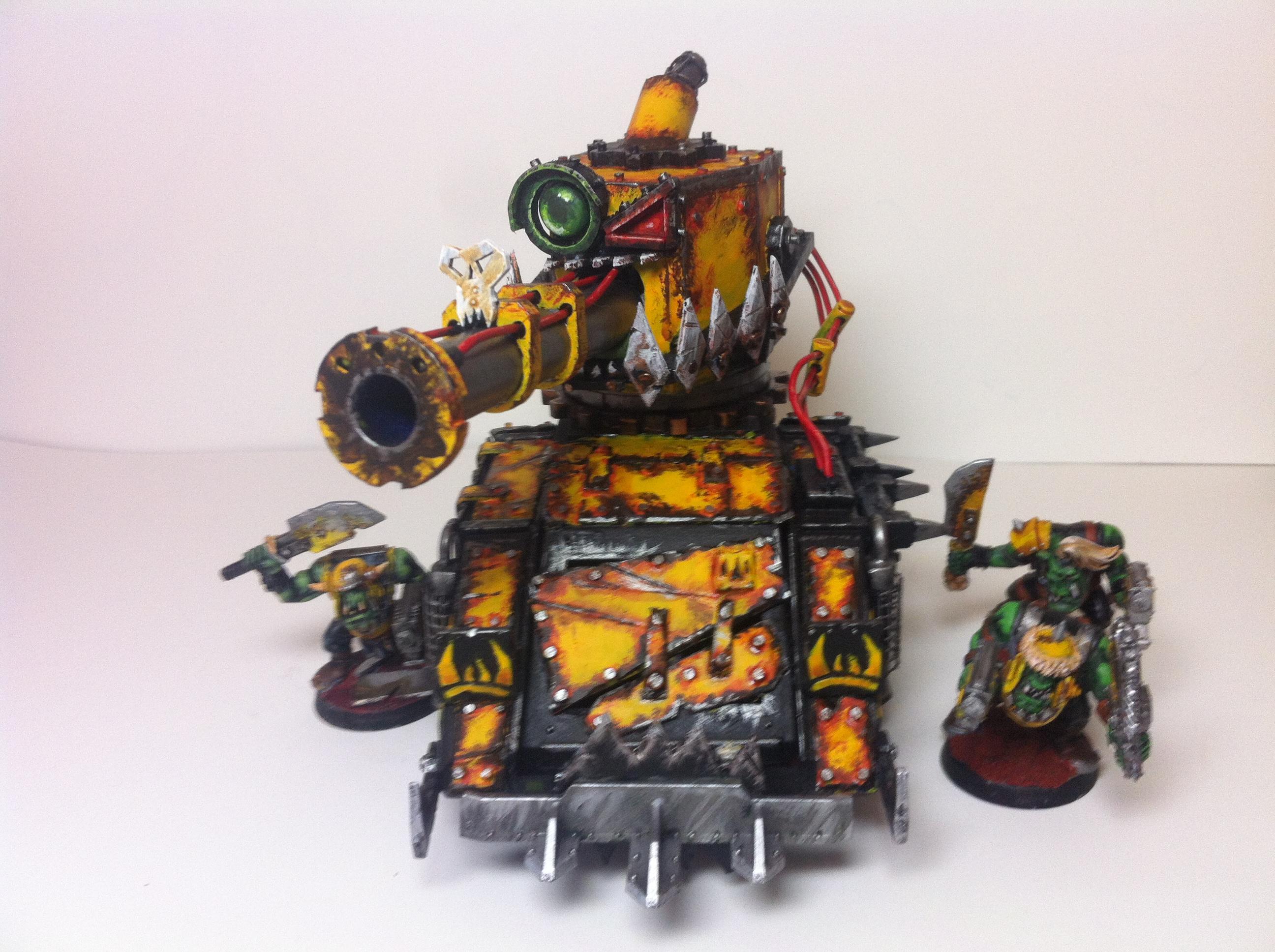 Bad Moons, Boom Gun, Conversion, Dakka Dakka, Looted Wagon, Orks, Rust