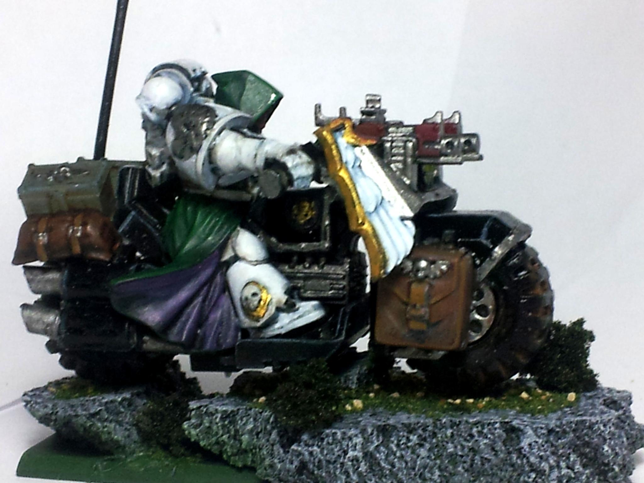 Bike, Character, Cork, Cork Base, Dark Angels, Space Marines, Warhammer 40,000