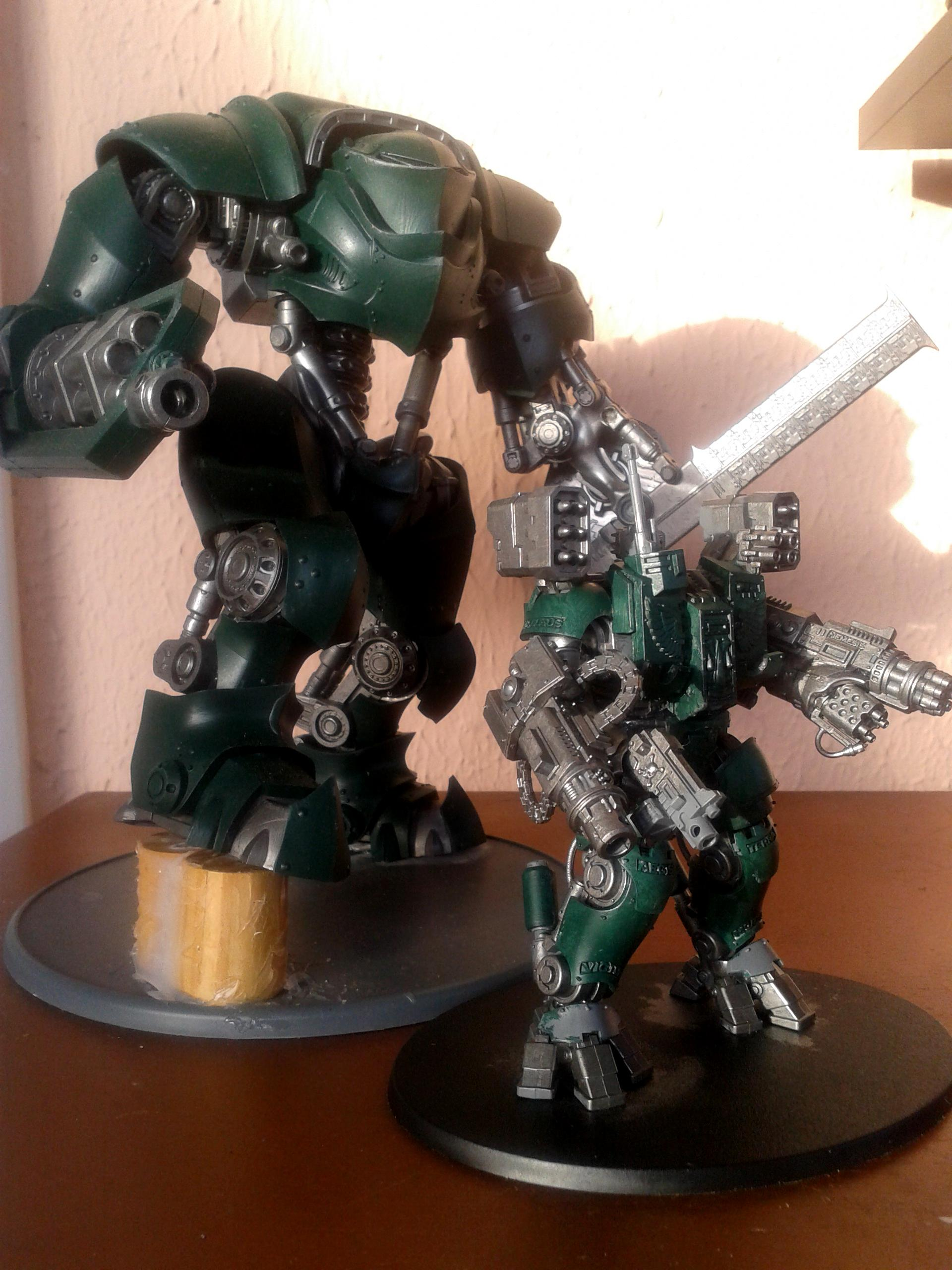 Comparison, Conversion, Crusader, Dreadknight, Dreadnought, Dreamforge, Gun, Guns, Leviathan, Scale, Size, Weapon