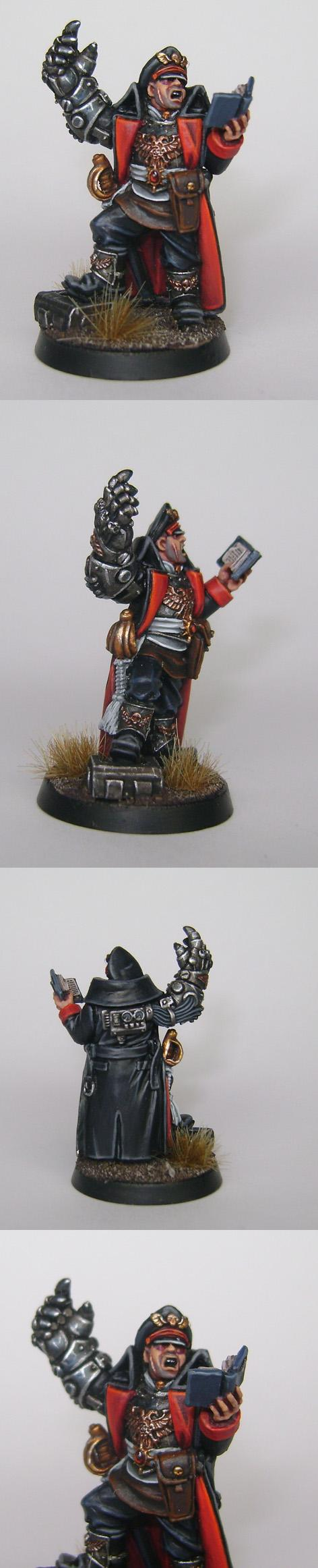 Commissar, Games Workshop, Imperial Guard, Painted, Power Fist, Warhammer 40,000