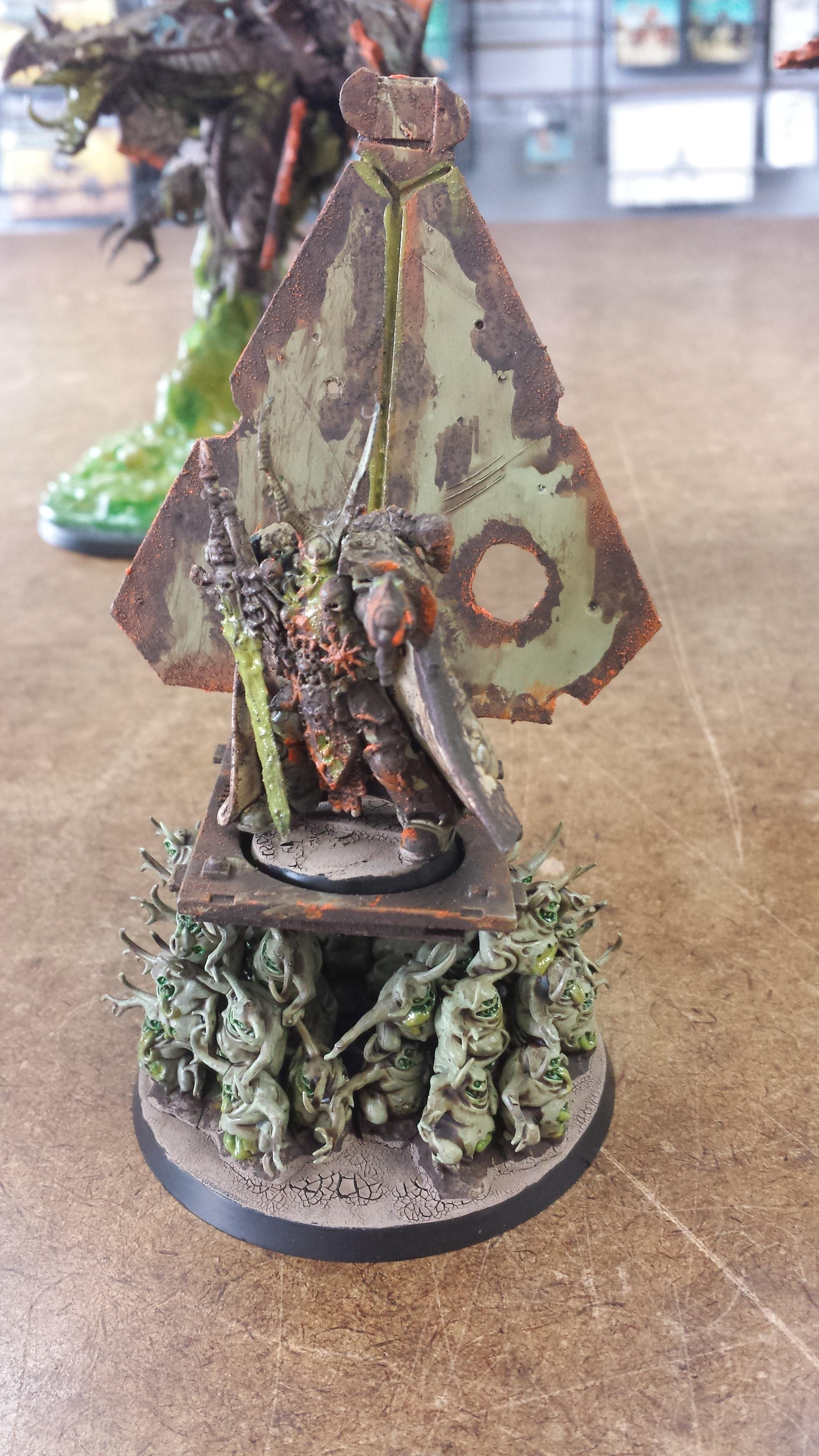 Chaos, Chaos Lord, Chaos Space Marines, Goo, Nurgle, Palanquin, Palanquin Of Nurgle, Plague Lord, Plague Marines, Plauge, Rot, Warhammer 40,000, Zombie