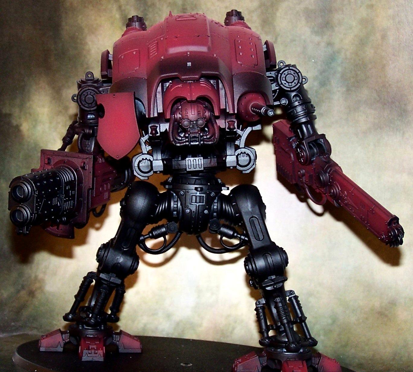 House Taranis, Imperial Knight, Undercoated, Work In Progress