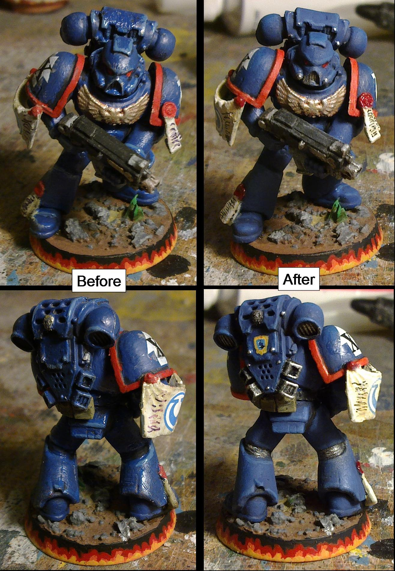 Tactical marine number 1 re-paint
