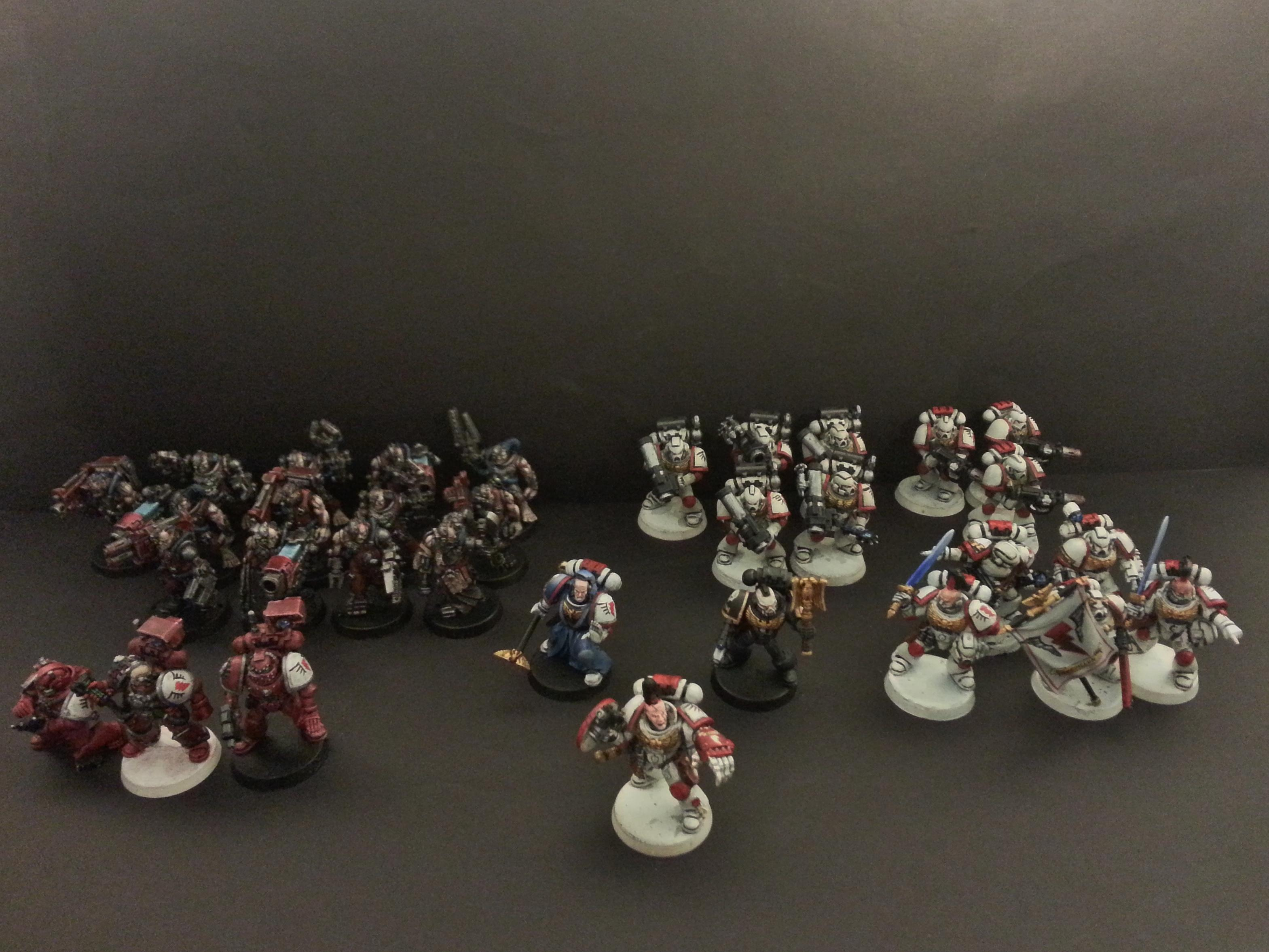 Captain, Chaplain, Command Squad, Devastators, Librarian, Servitors, Space Marines, Techmarine, Warhammer 40,000, White Scars