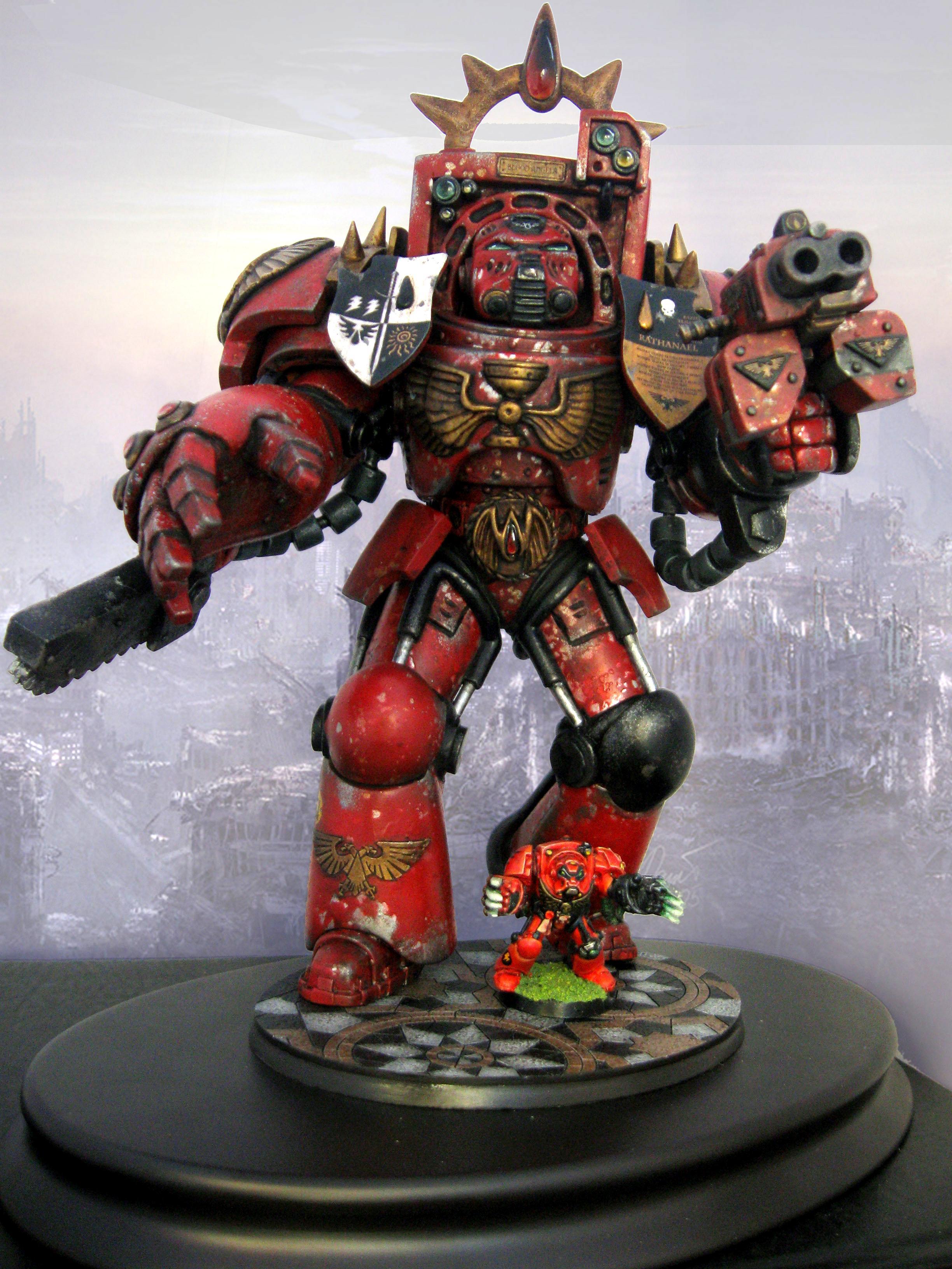 Angel, Blood, Custom, Sculpting, Space, Space Marines, Terminator Armor
