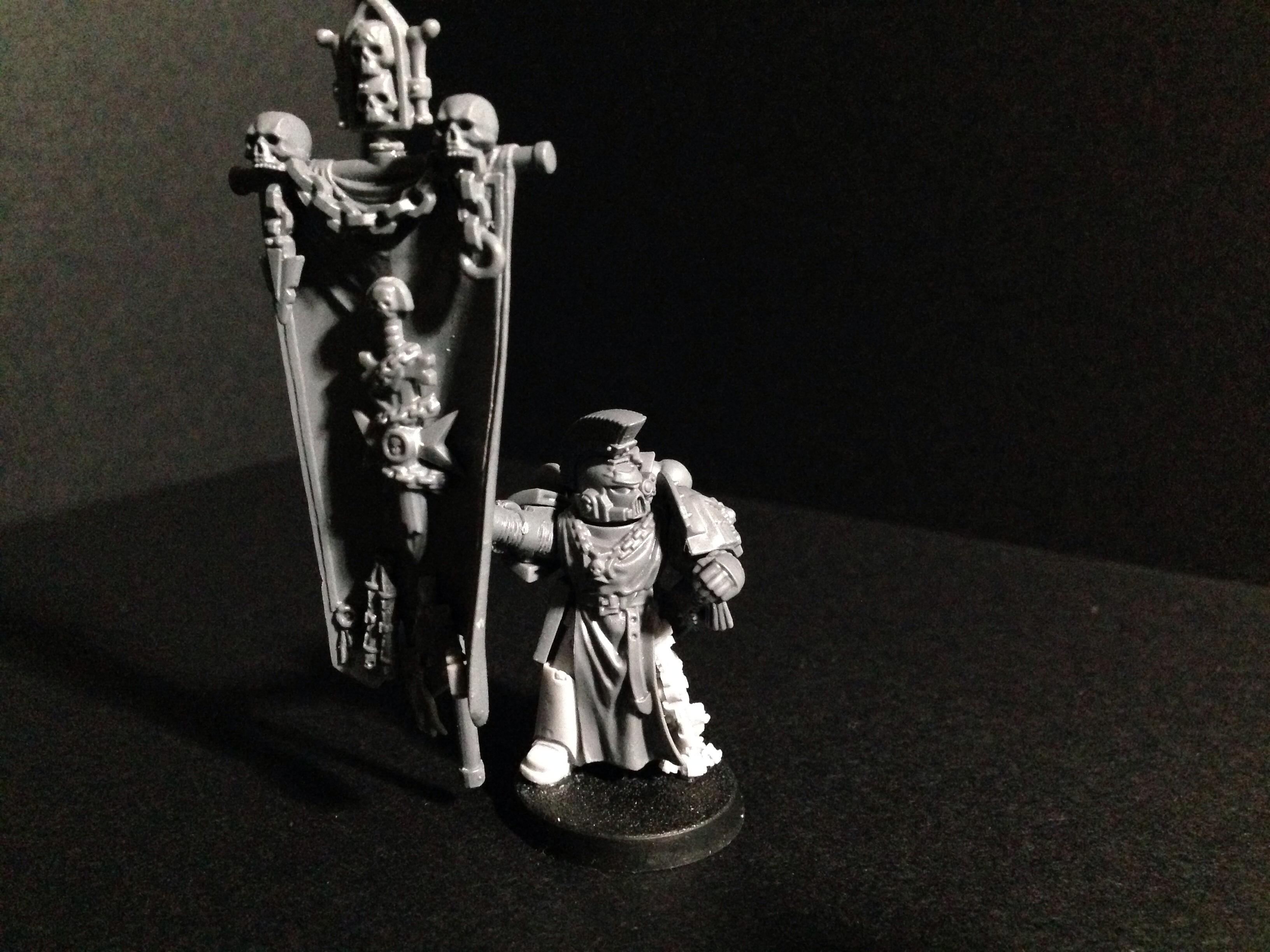 Adeptus Astartes, Black Templars, Chapter Banner, Honor Guard, Space Marines, Standard Bearer