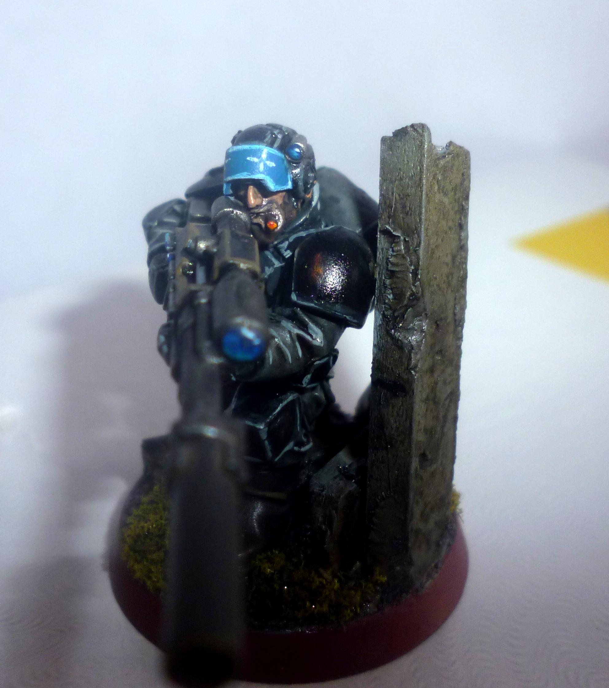 Adeptus Arbites, Black, Face, I28, Snipers