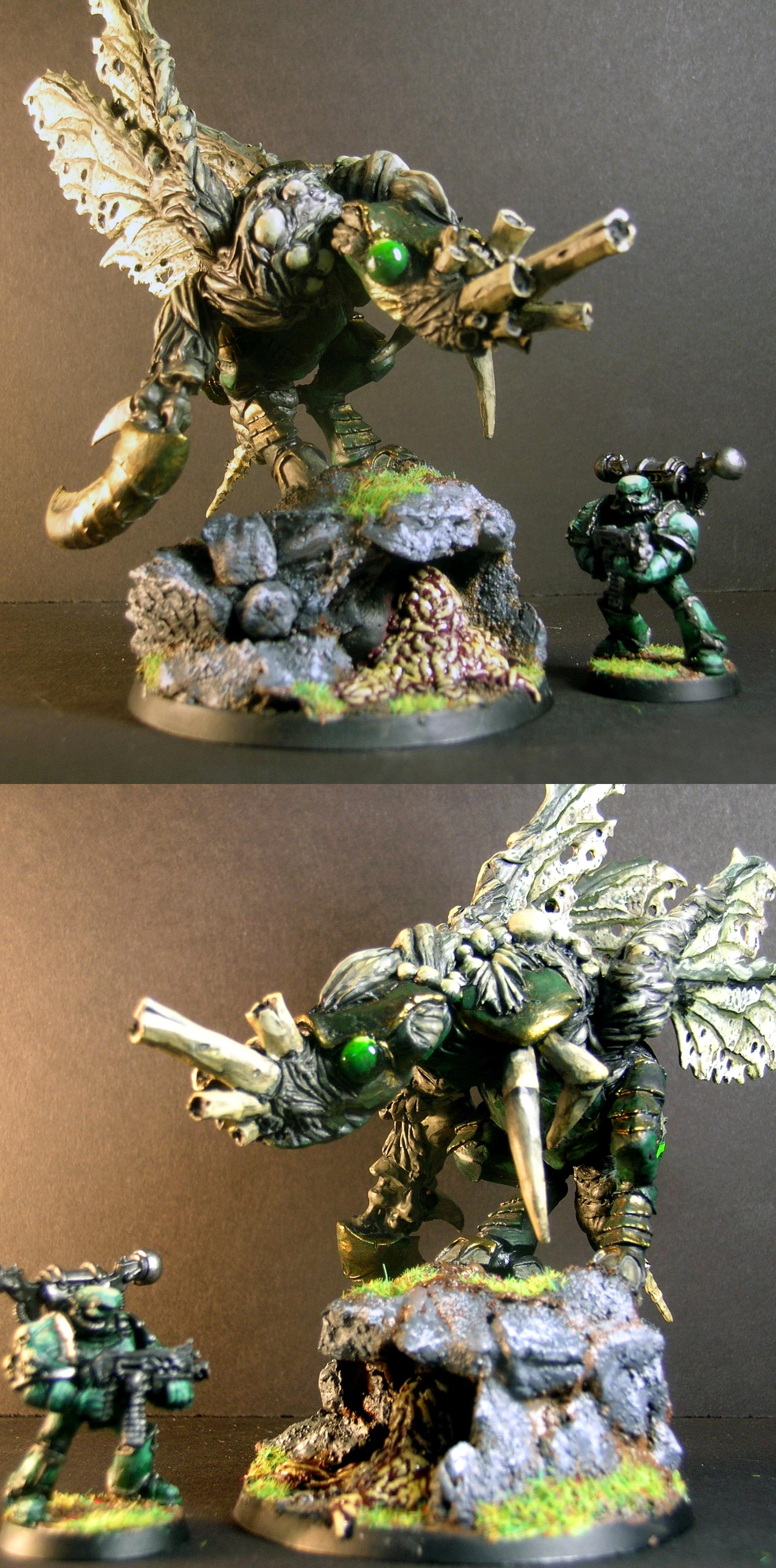Bug, Cave, Chaos Daemons, Daemon Prince, Daemons, Death Guard, Insect, Nurgle, Plague Marines, Warhammer 40,000, Winged