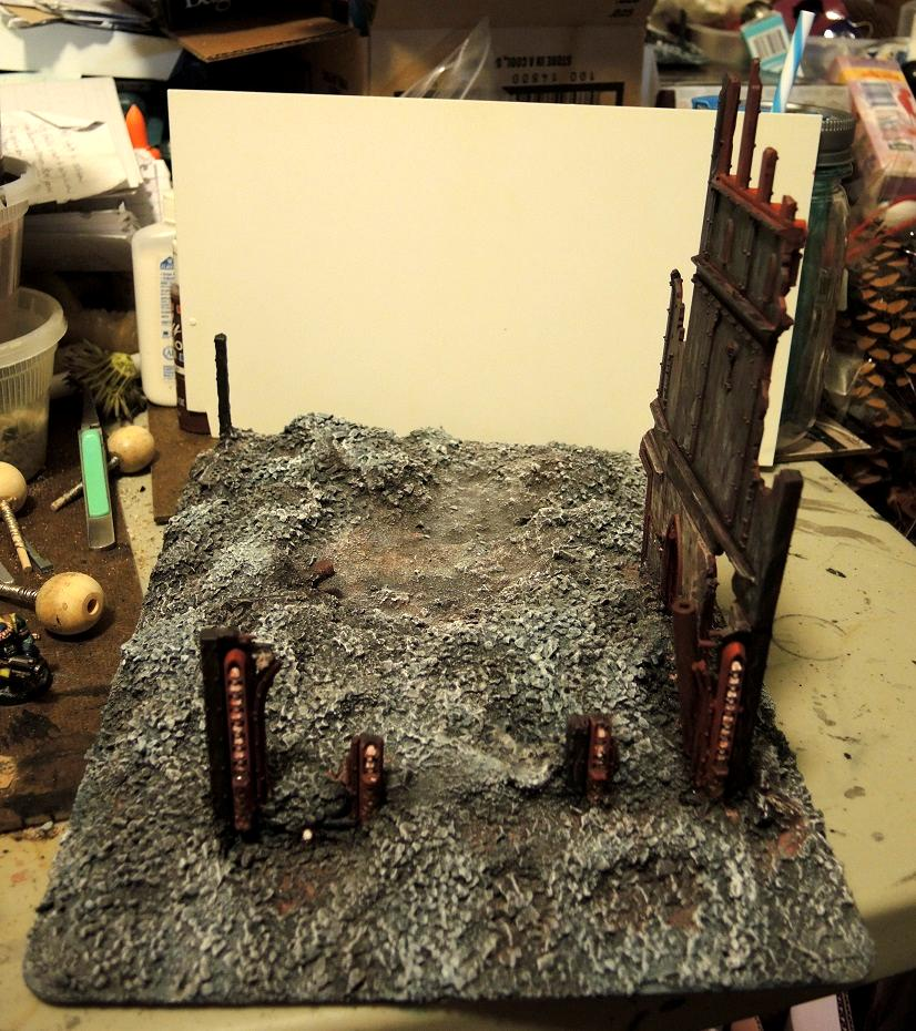 Administratum, Base Coat, Commission, Details, Done, Sealing Coat, Terrain, Warhammer 40,000