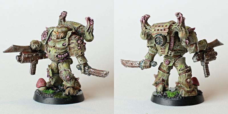 Chaos Space Marines, Nurgle, Plague Marines, Spellcrow, Wash, Weathered
