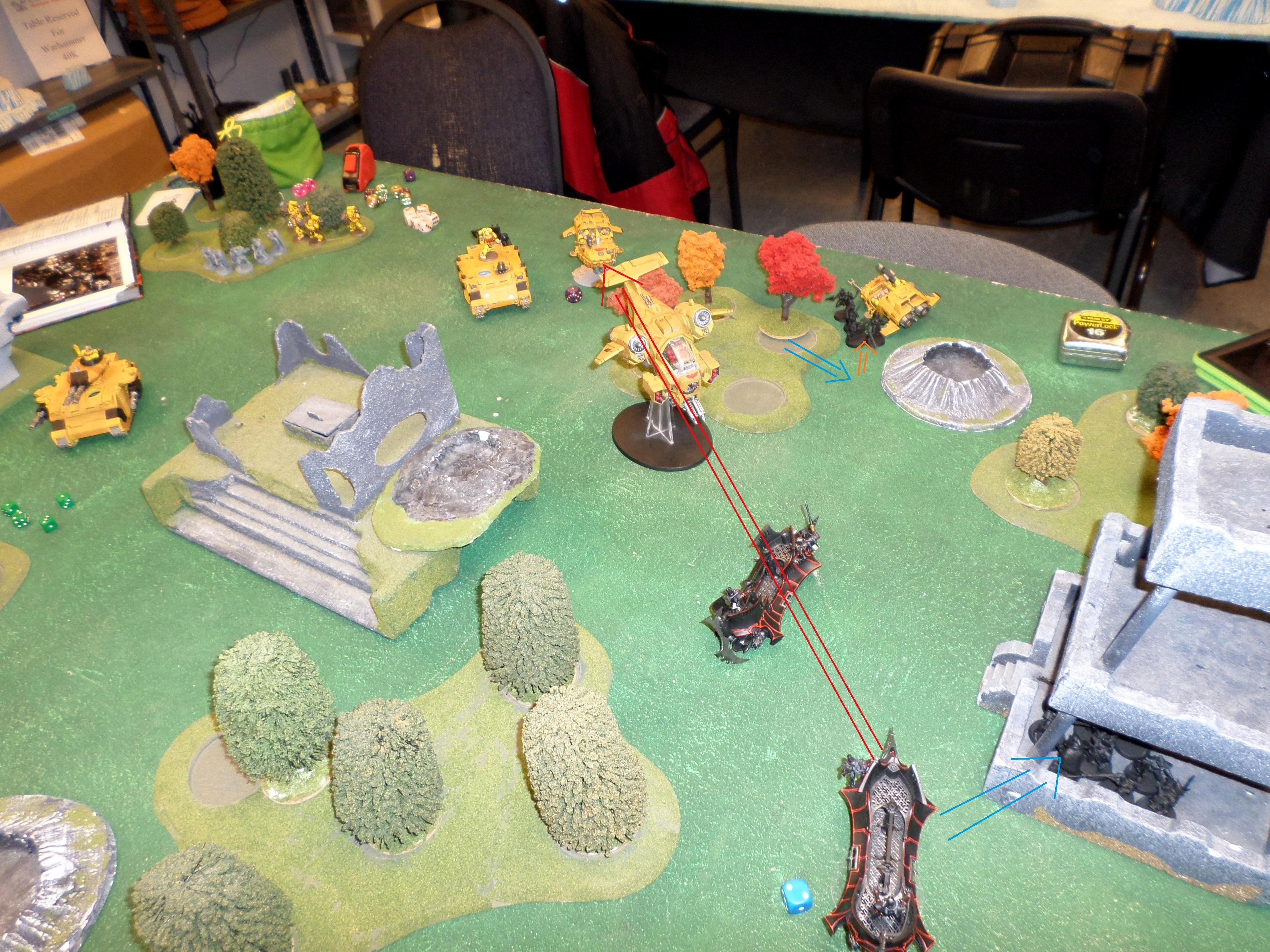 Battle Report, Dark Eldar, Imperial Fists, Space Marines