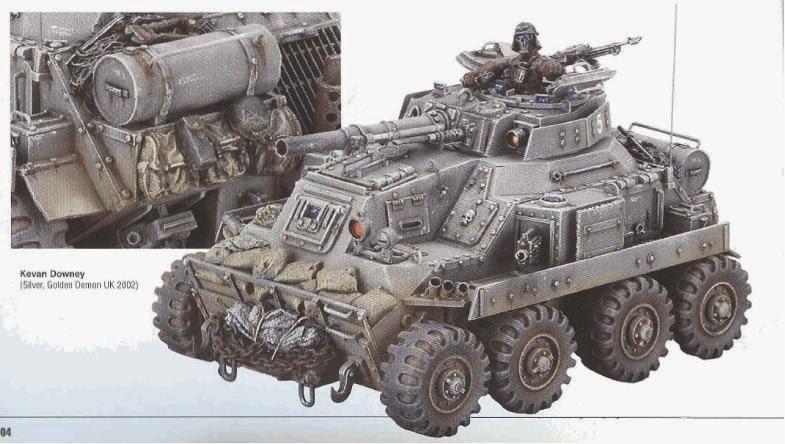 Armored Car, Backwards, Chimera, Golden Demon, Imperial Guard, Leman Russ, Tank, Wheeled, White Dwarf