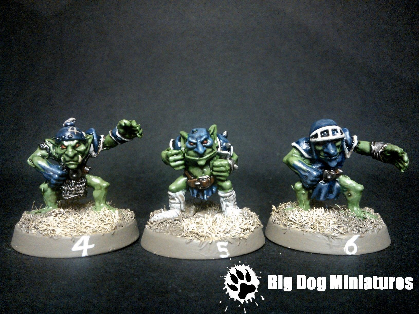 Big Dog Miniatures, Blood, Bowl, Cheerleader, Goblins, Troll