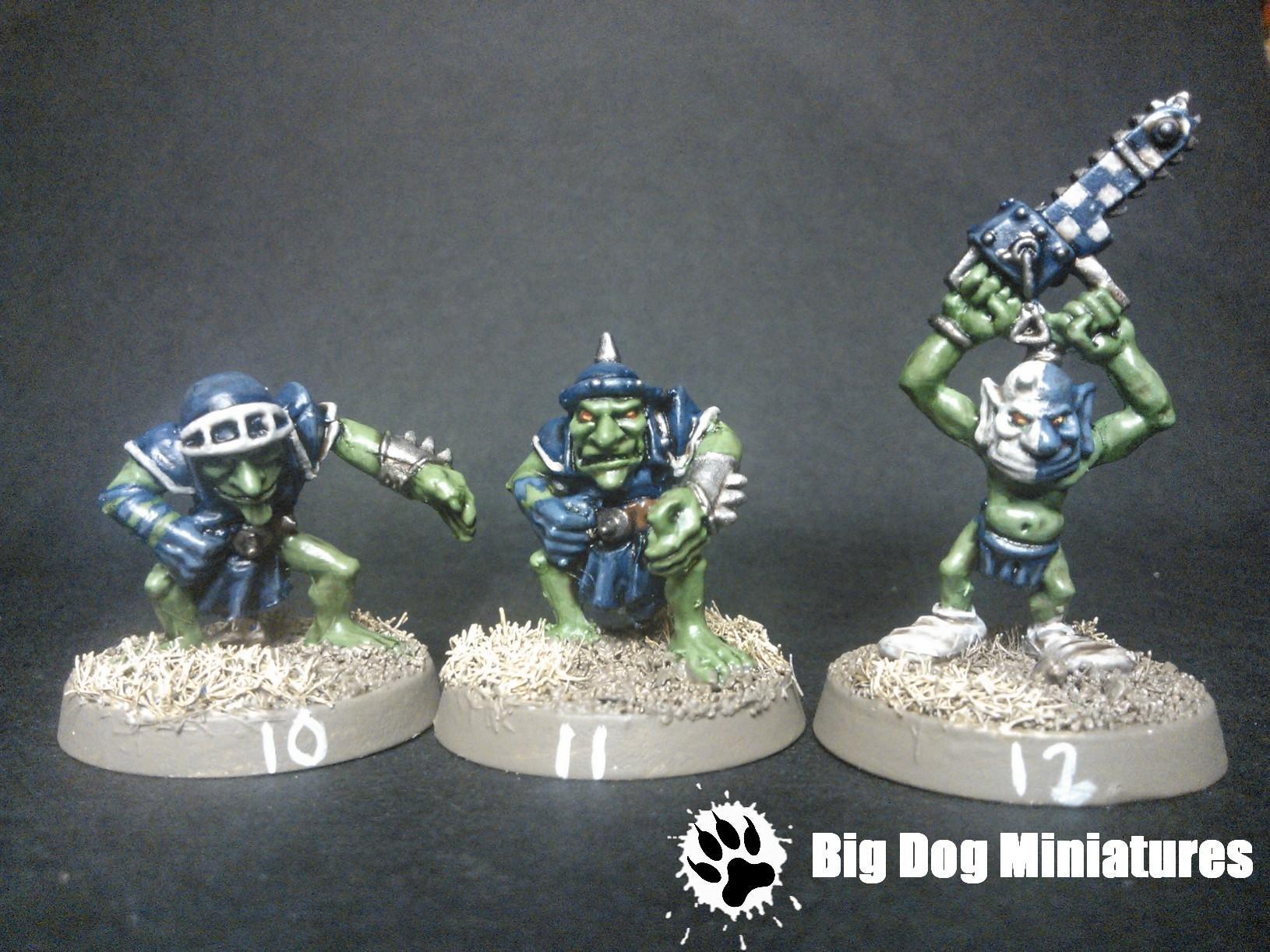 Big Dog Miniatures, Blood, Bowl, Chainsaw, Cheerleader, Goblins, Troll