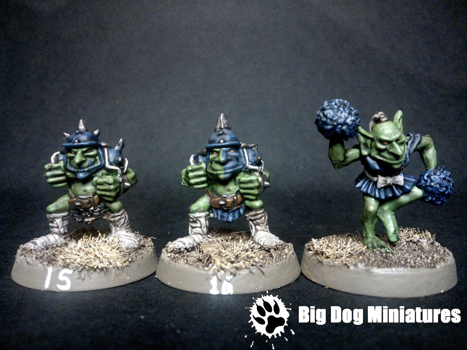 Big Dog Miniatures, Blood, Bowl, Cheerleader, Goblins, Troll
