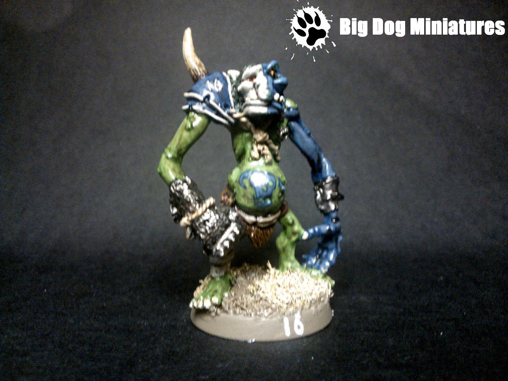 Big Dog Miniatures, Blood, Bowl, Cheerleader, Goblins, Painting, Troll, War