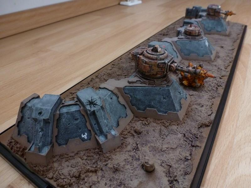 Bunker, Defense Line, Display, Game Table, Looted, Orcs, Orks, Terrain, Turret