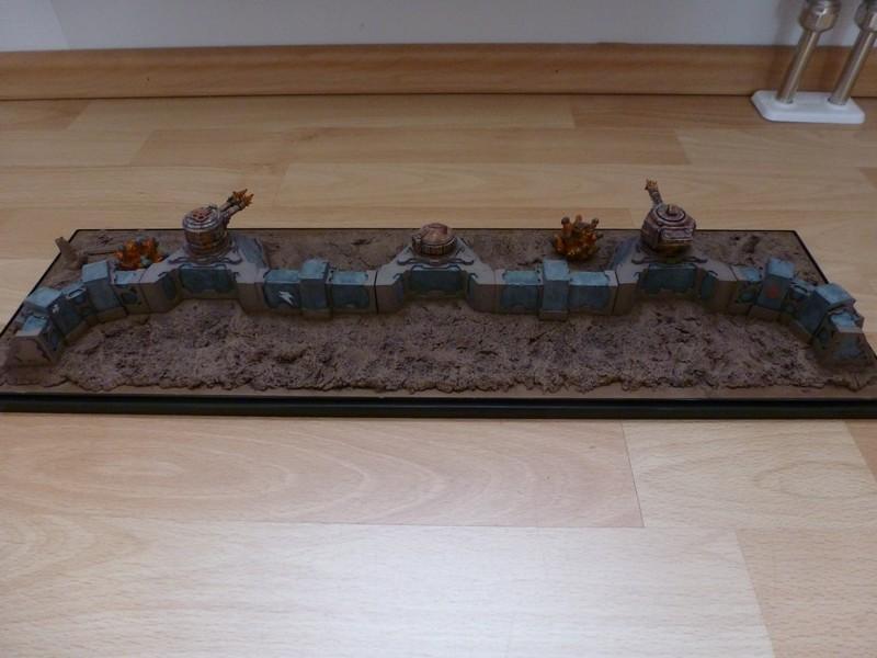 Bunker, Defense Line, Display, Game Table, Looted, Orcs, Orks, Terrain, Turret