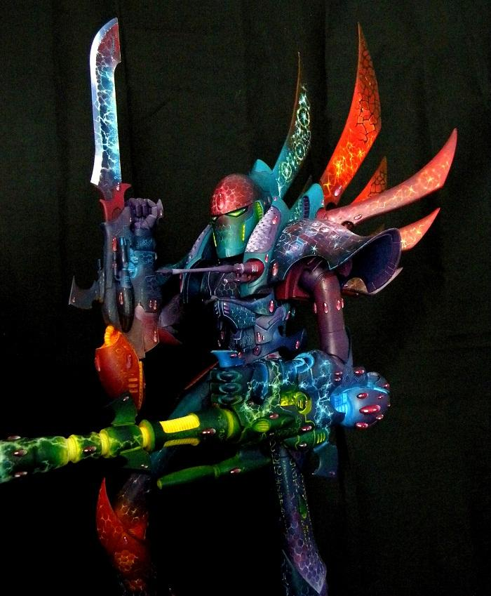 Airbrush, Blending, Eldar, Forge World, Freehand, Phantom Titan, Warhammer 40,000