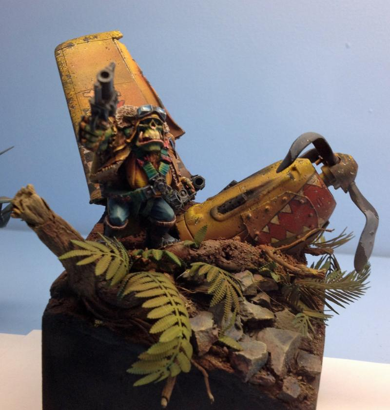 2014, Adepticon, Bomber, Crystal Brush, Diorama, Orks