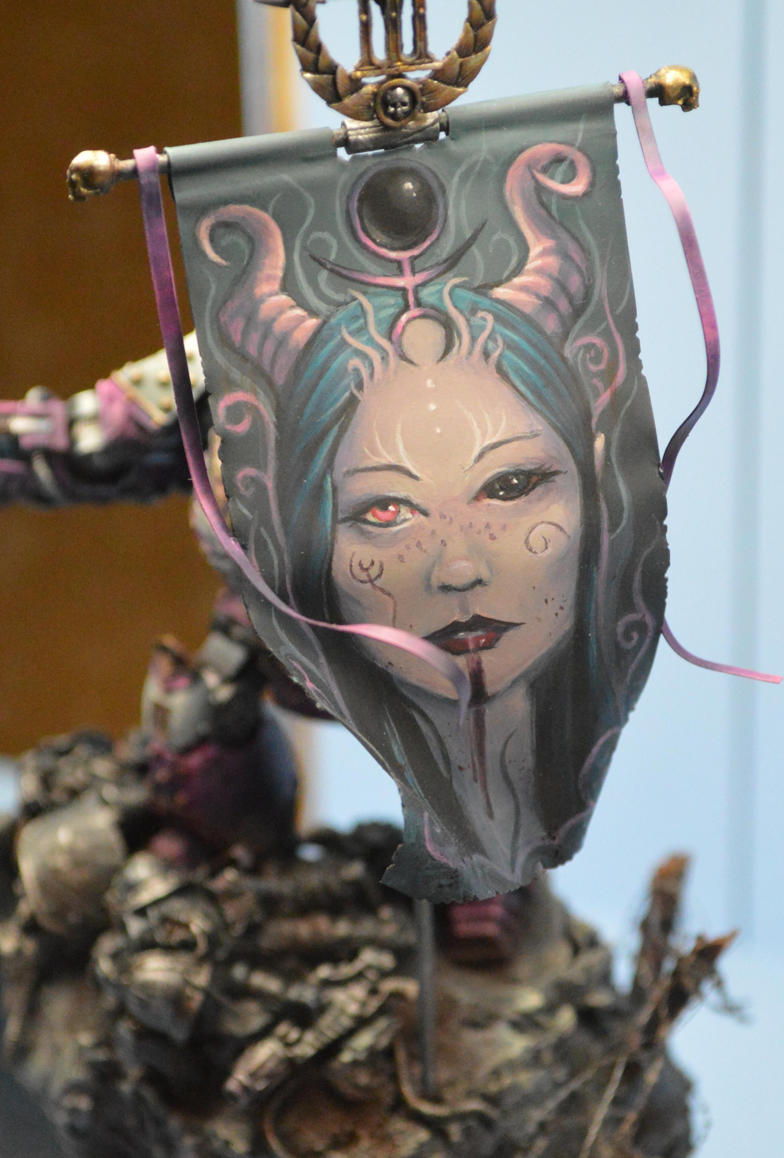 Adepticon 2014, Banner, Crystal Brush, Freehand, Slaanesh