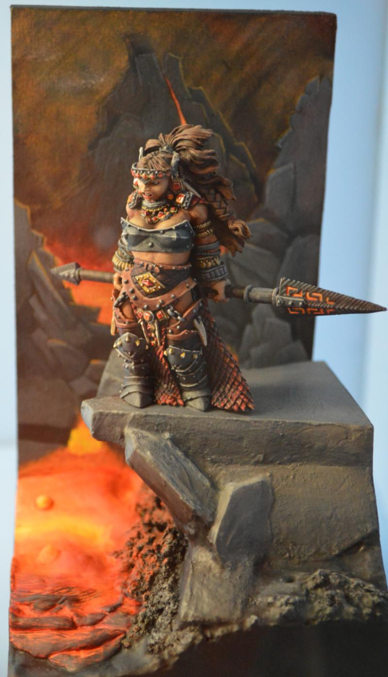 Adepticon 2014, Crystal Brush, Female, Fire Giant, Reaper ...