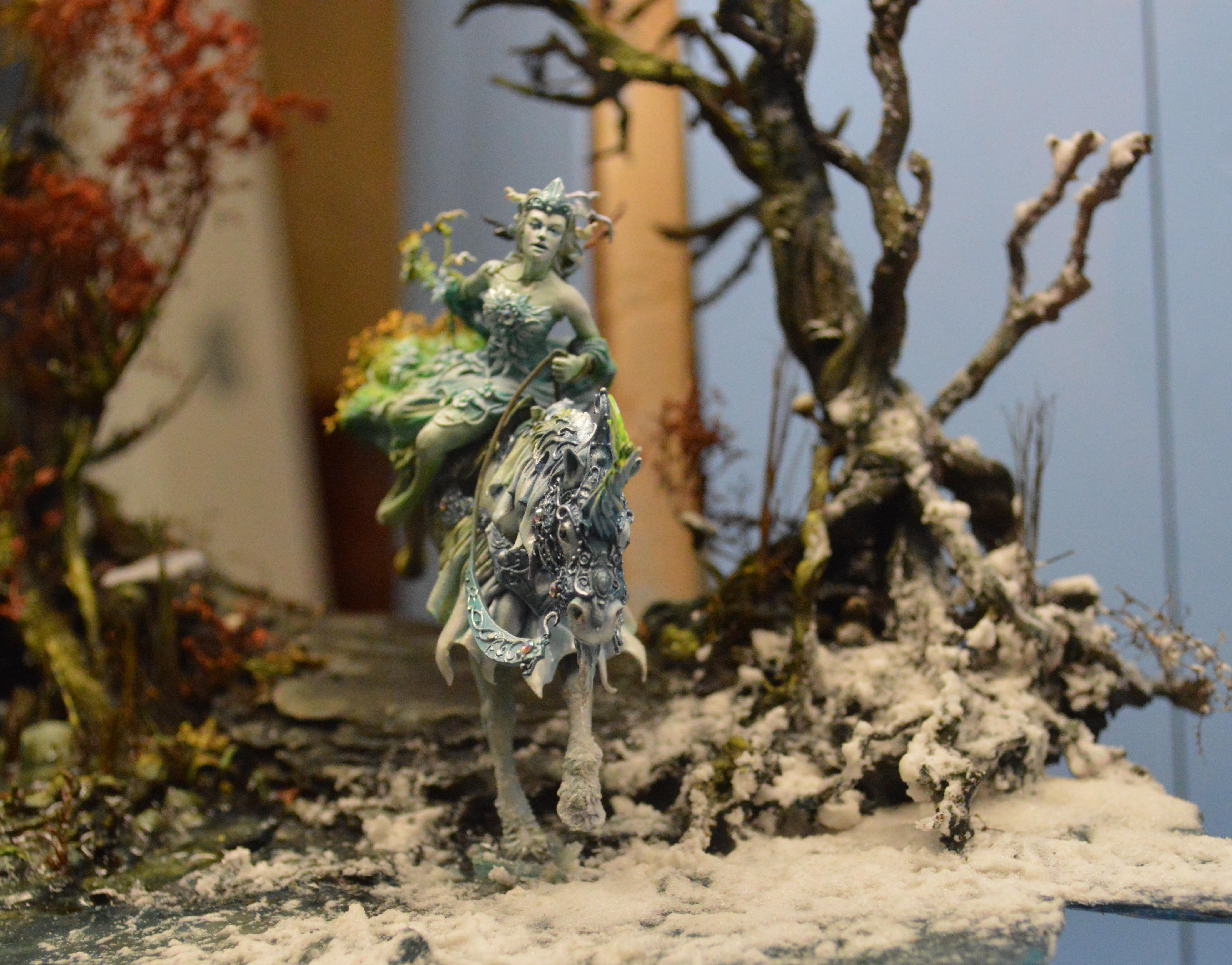Adepticon 2014, Crystal Brush, Diorama, Female, Wood Elves