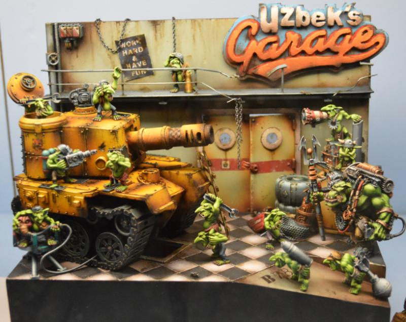 Adepticon 2014, Crystal Brush, Diorama, Grot Tank, Grots, Orks