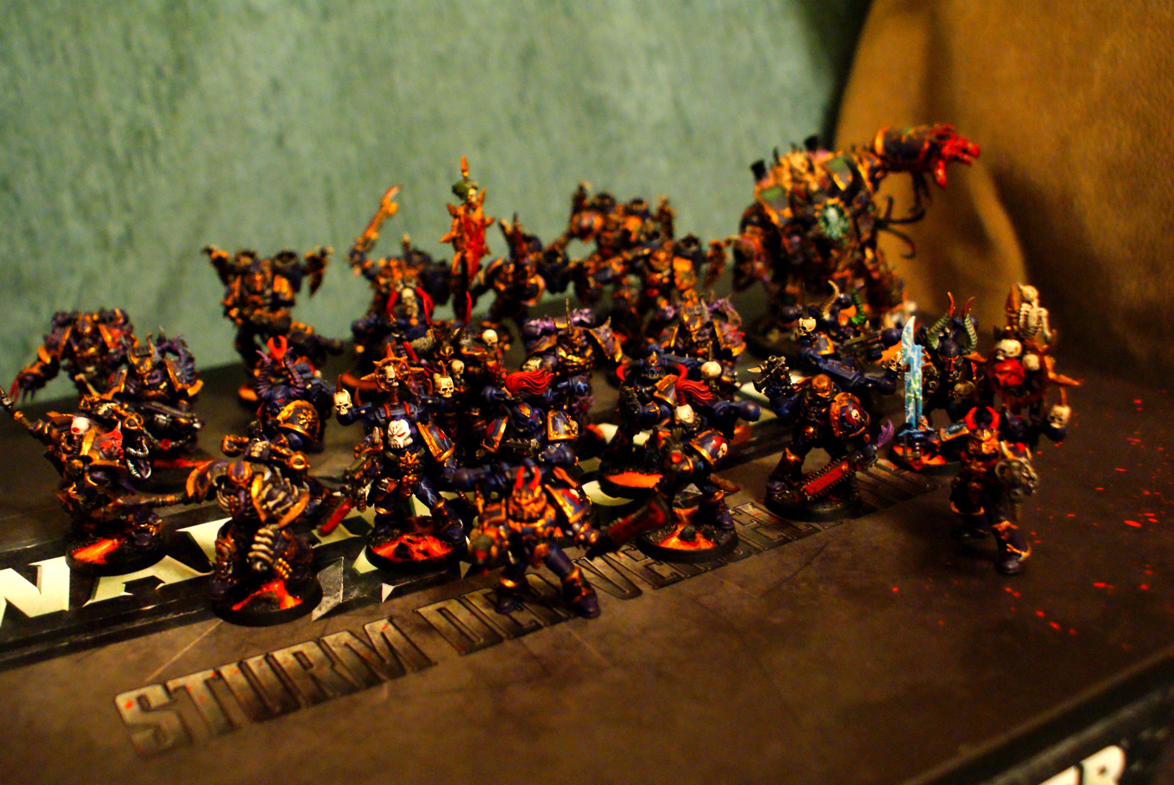 Champion, Chaos Land Raider, Chaos Space Marines, Lava Bases, Night Lords, Raptors, Warhammer 40,000
