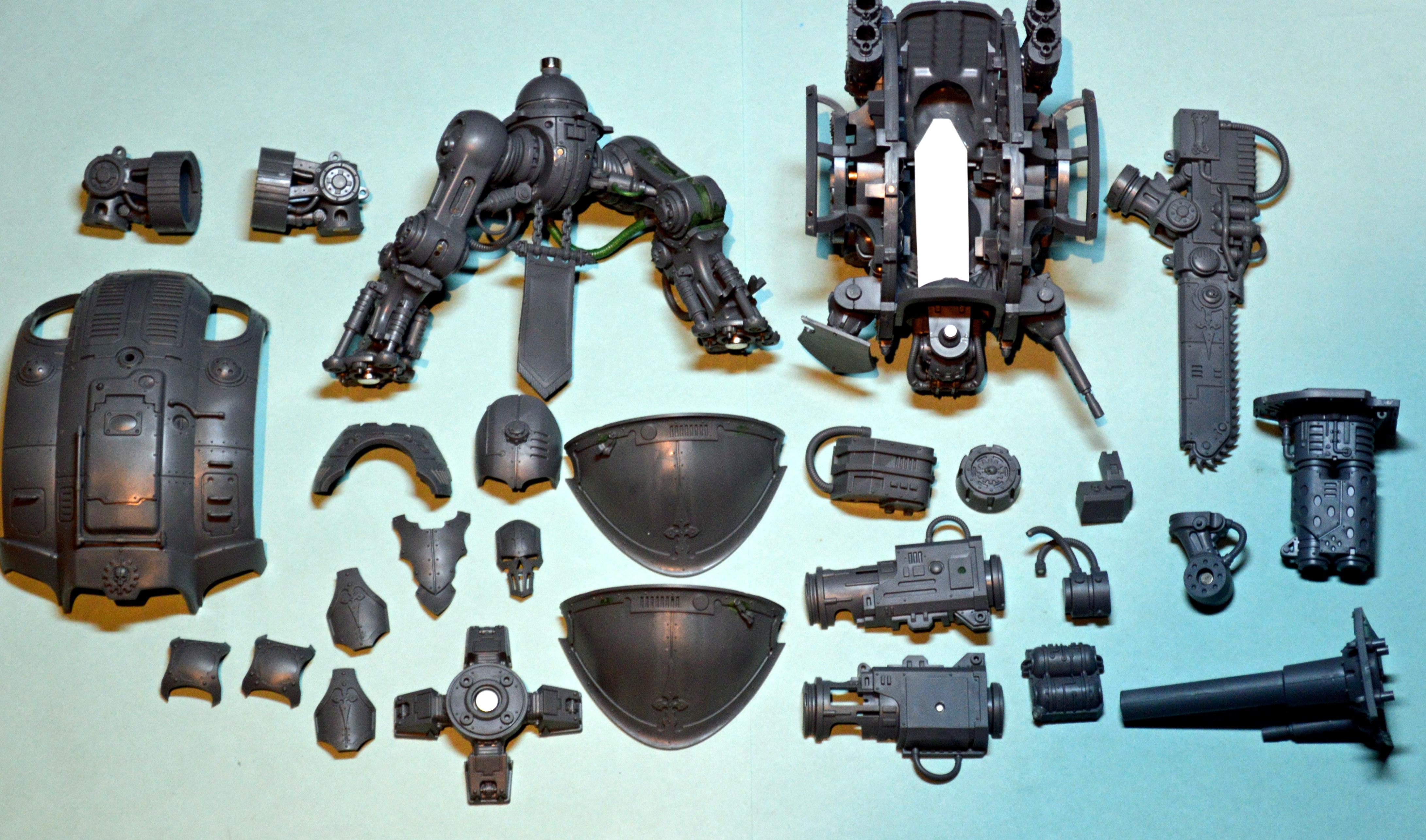 Imperial, Knights, Imperial knight disassembled components