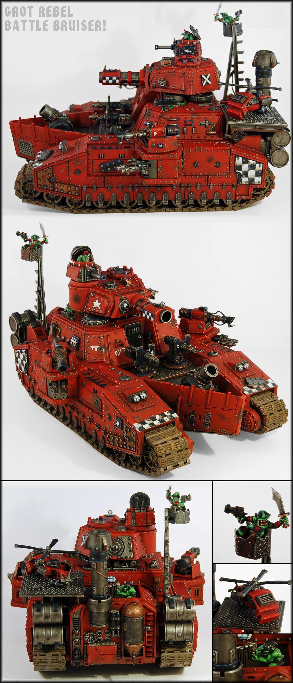 Baneblade, Battleship, Battlewagon, Greenskins, Gretchin, Grot Mega Tank, Grots, Grotz, Guard, Hellhammer, Imperial Guard, Looted, Orks, Warhammer 40,000