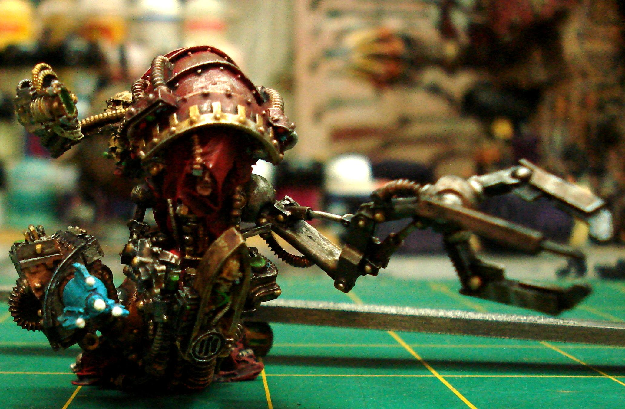Forge, Magos, Mechanicum, Mechanicus, Priest, Rad, Servo, Skull, Tech, Thallax, World