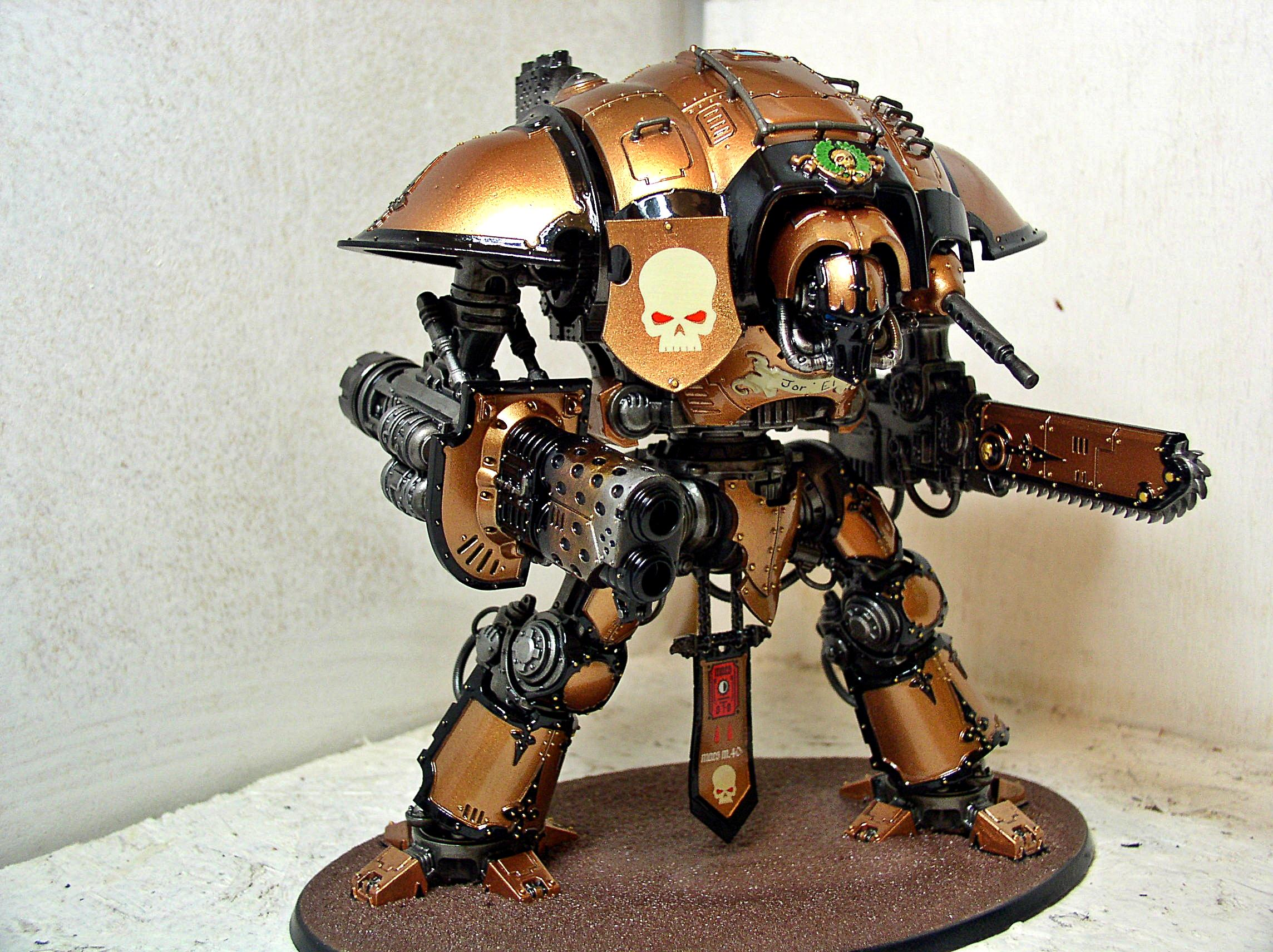 Bronze, Chainsword, Imperial Knight, Knights, Metallic