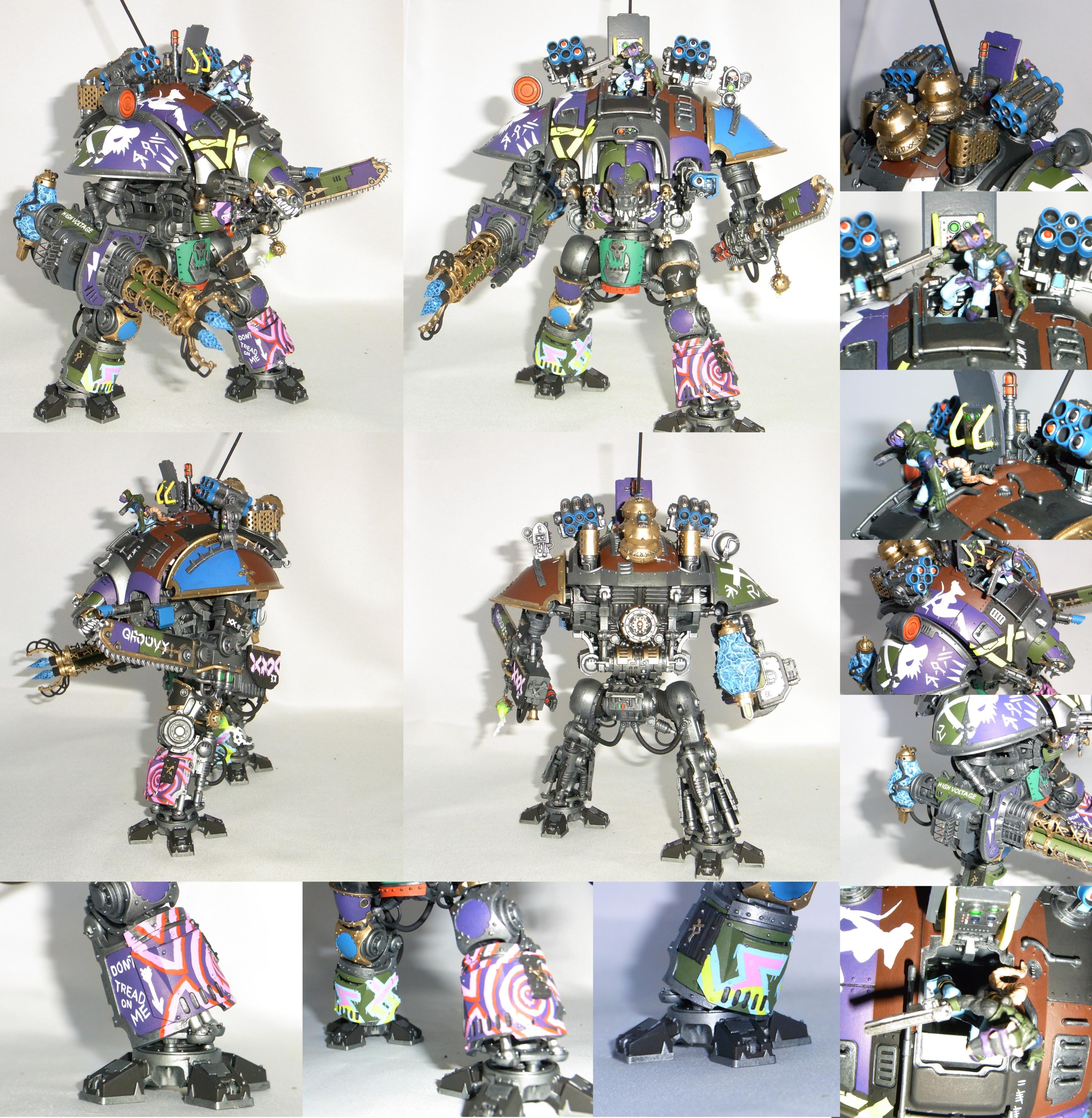 Cannon, Chainfist, Dont, Female, Flamer, Graffitti, Imperial, Knights, Korbenn, Lascannon, Lightning, Me, Necrons, On, Pilot, Rat, Tesla, Titan, Treat