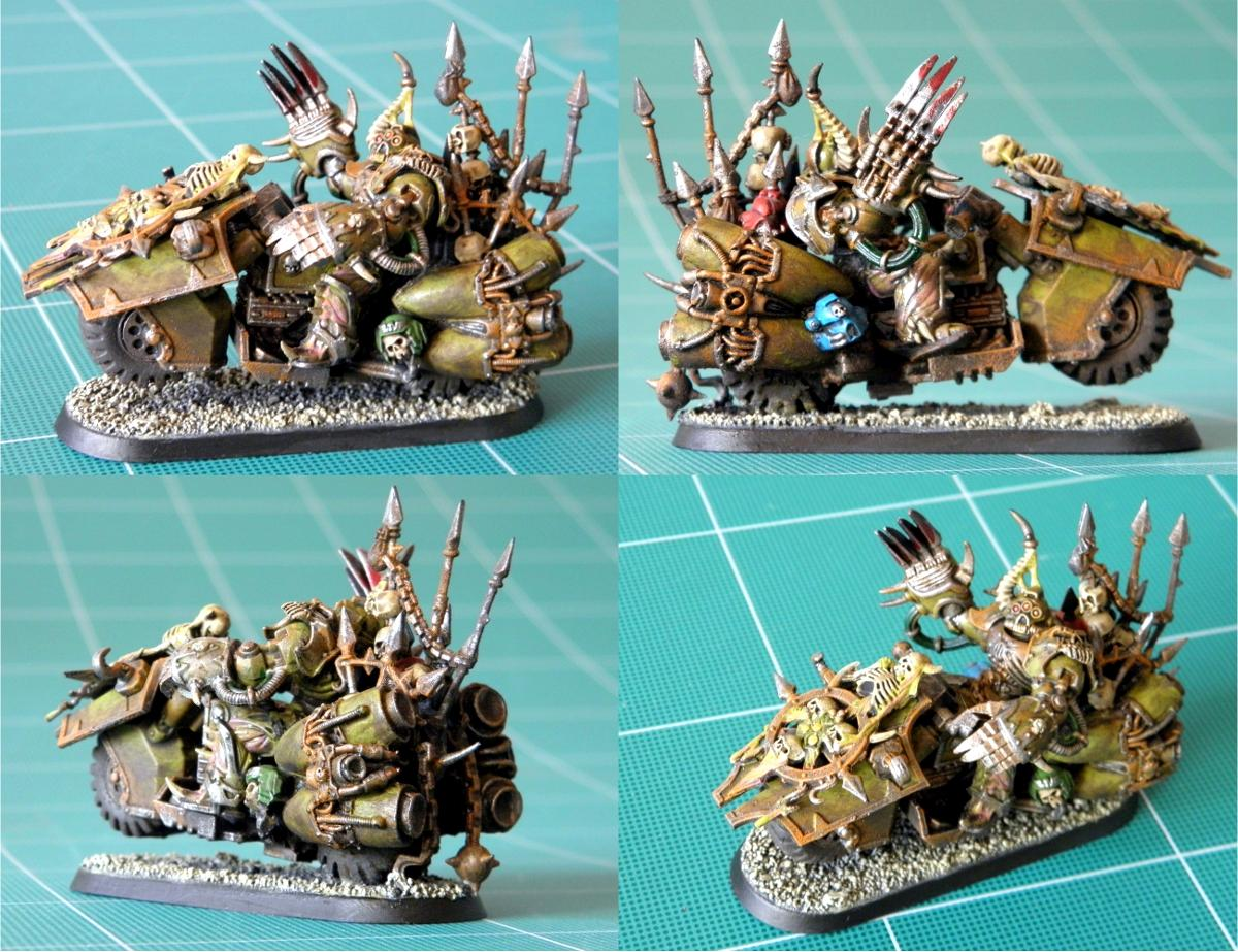 Bike, Chaos, Chaos Lord, Chaos Space Marines, Conversion, Death Guard, Fast, Jetbike, Mark Of Nurgle, Mutation, Nurgle, Nurgle Chaos Lord On Bike, Plague Marines, Power Claw, Power Fist, Trophy, Warhammer 40,000, Warhammer Fantasy