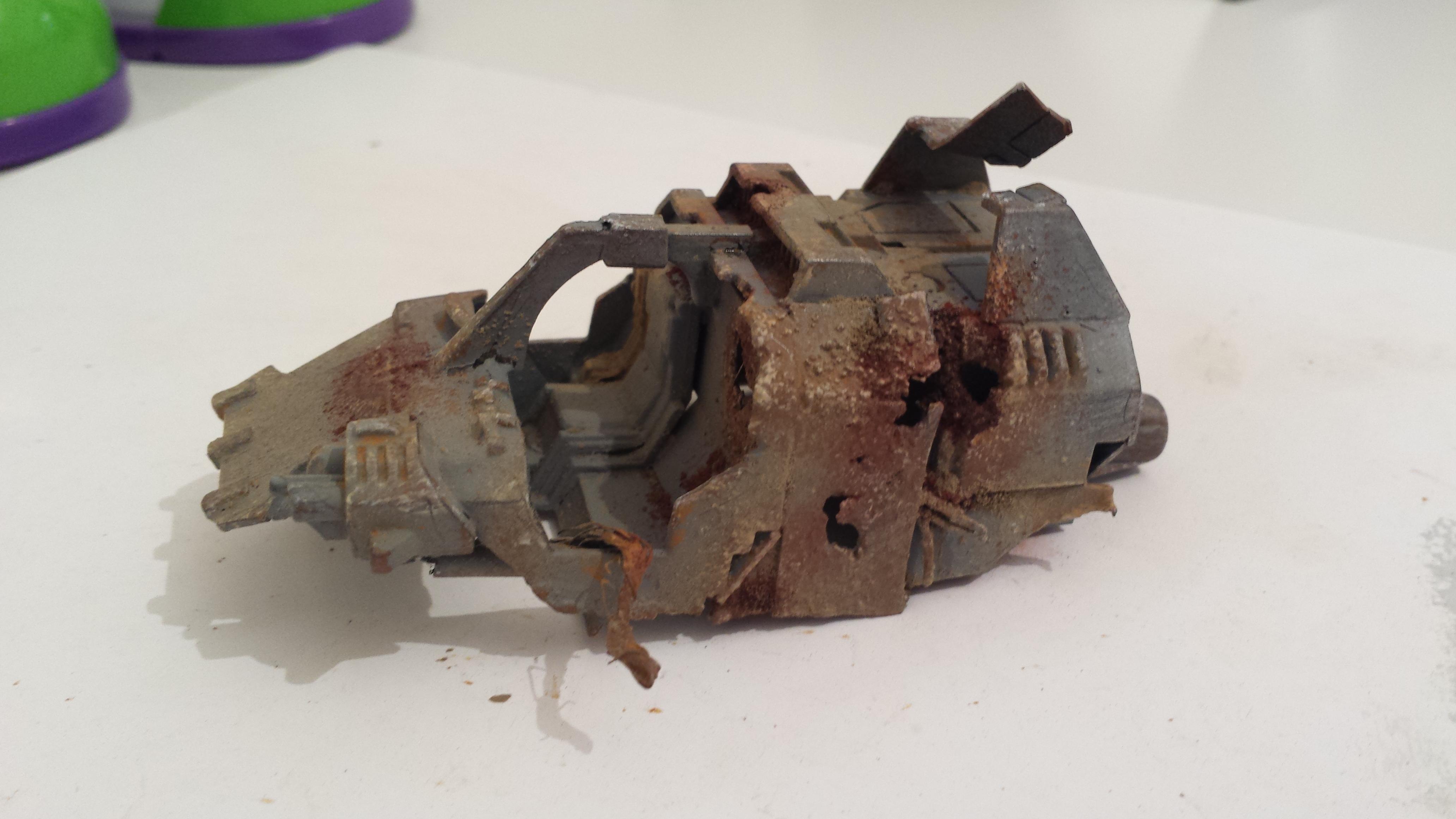 Damage, Land Speeder, Wrecked