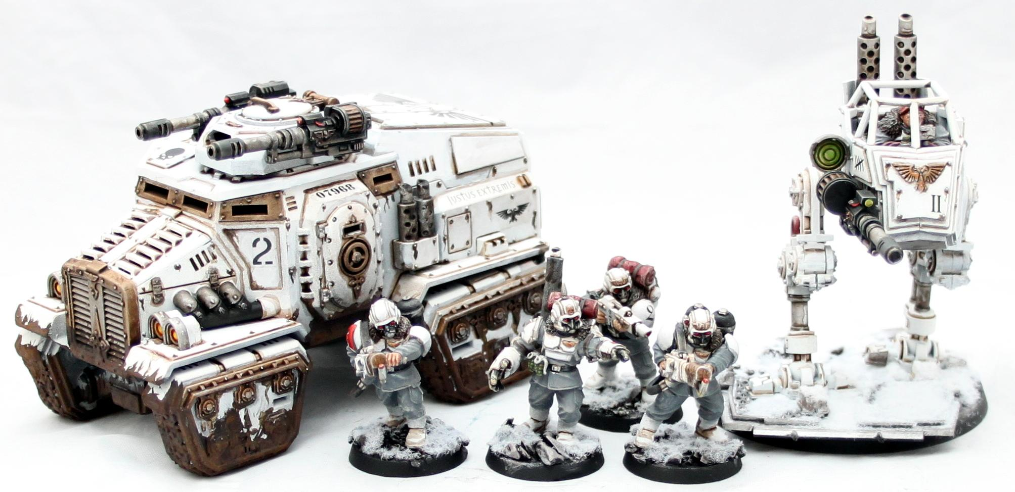 Imperial Guard, Sentinel, Snow, Taurox, Veteran, Winter