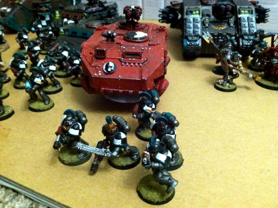 Mechanicus Razorback and Marines