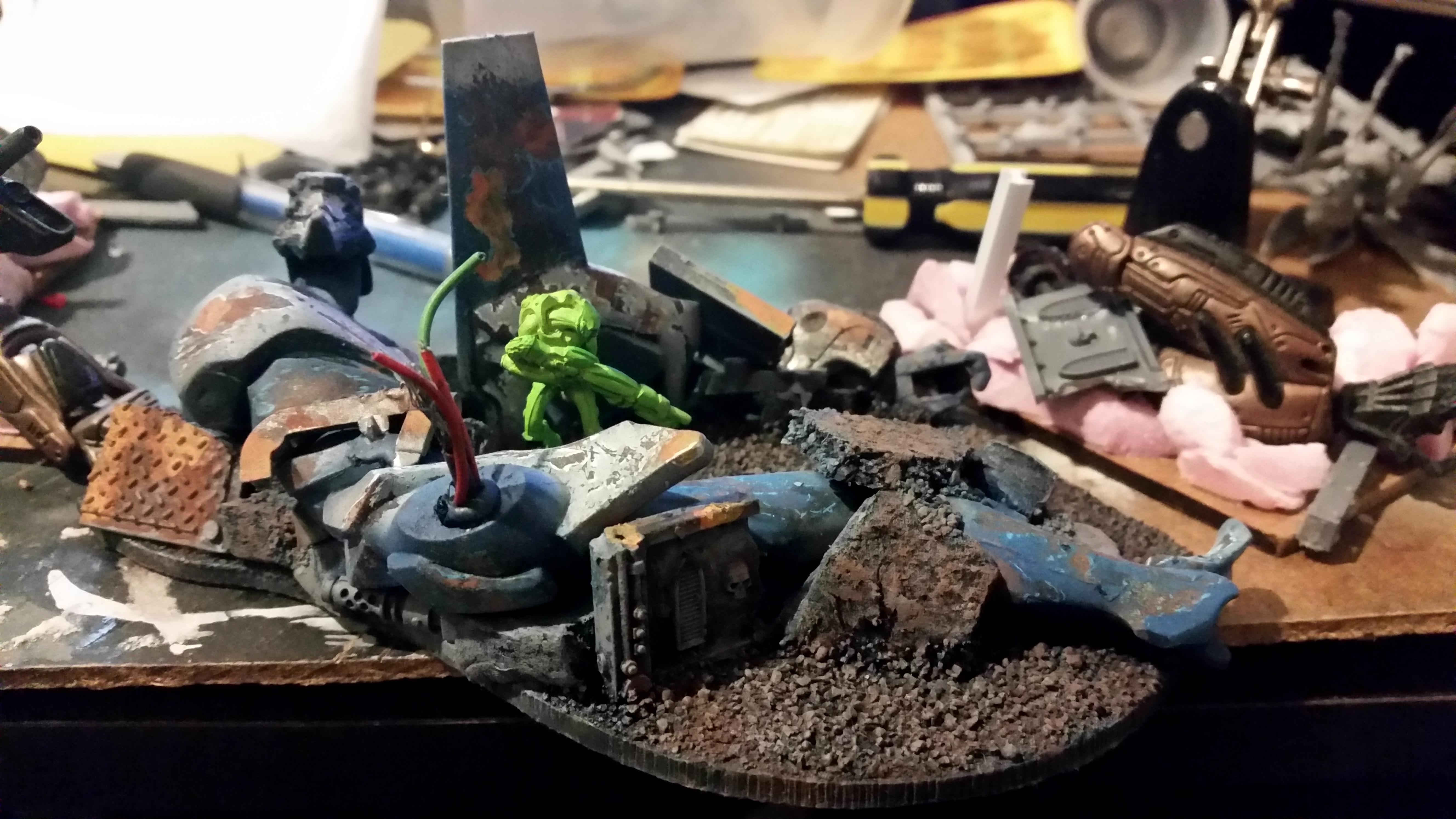 Debris, Eva, Infinity, Infinity The Game, Robot, Ruins, Rust, Weathered